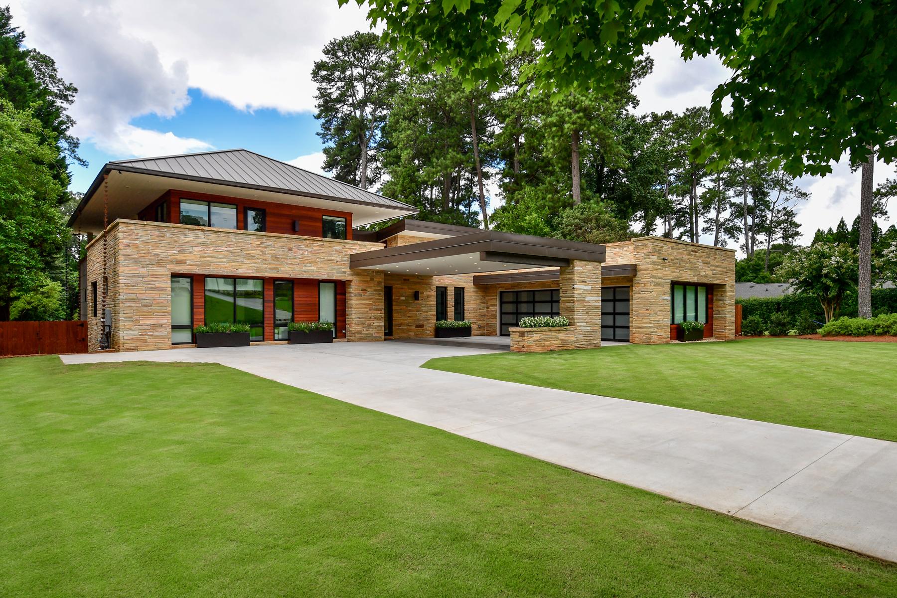 Single Family Home for Sale at Custom Contemporary Home in Buckhead 440 Cochran Drive Atlanta, Georgia 30327 United States