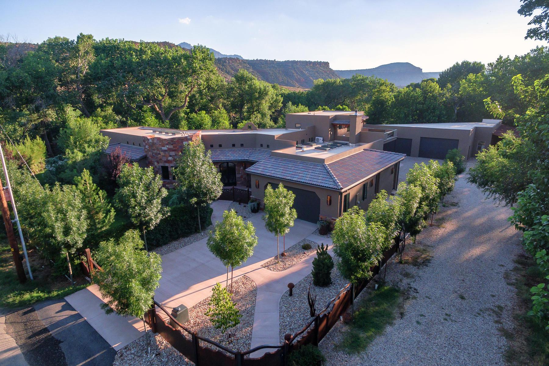 Casa Unifamiliar por un Venta en Zion River Sanctuary 98 Bridge Rd Rockville, Utah 84763 Estados Unidos