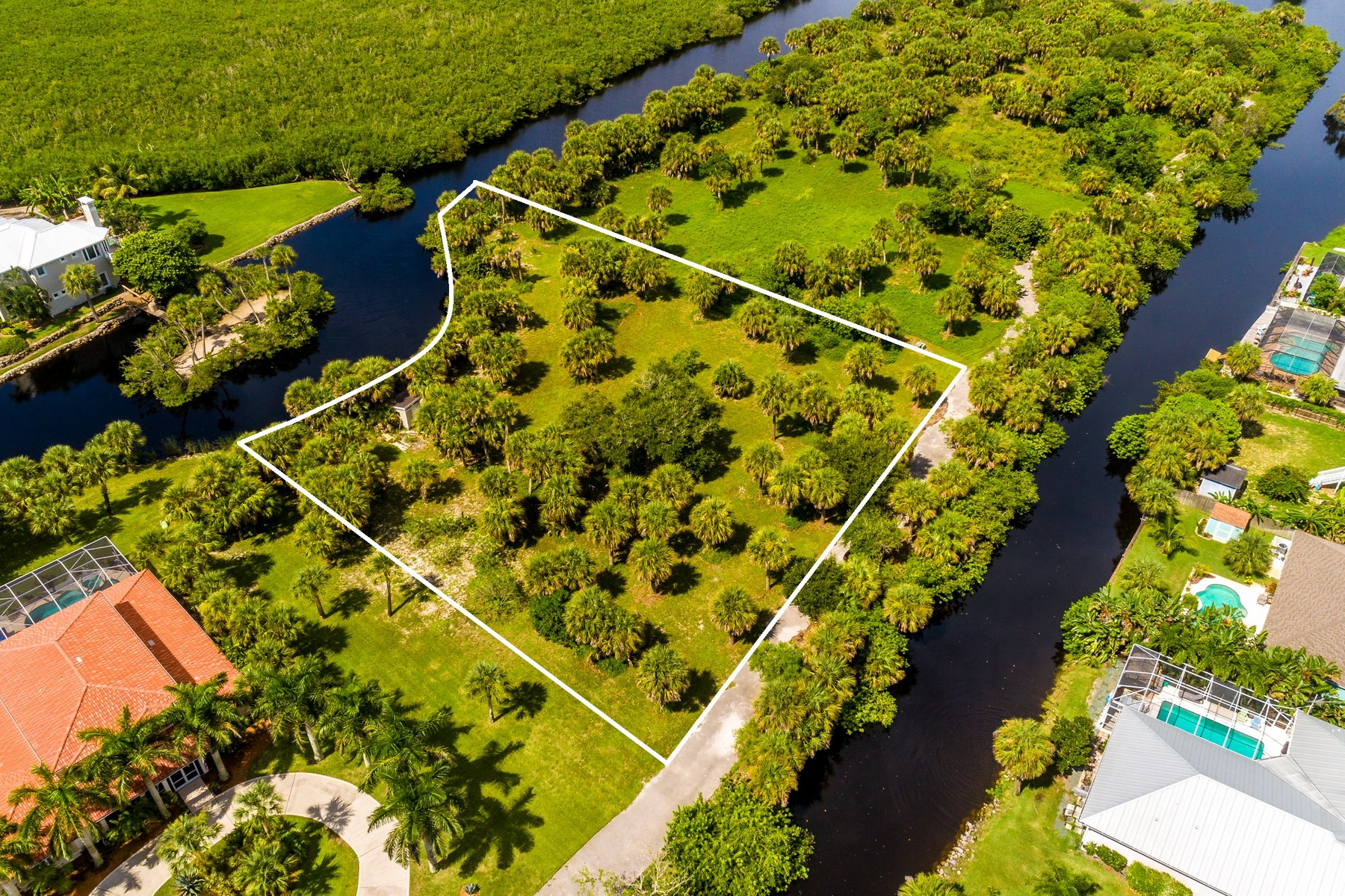 Additional photo for property listing at 1.11 Acre Private Lot on Private, Gated Peninsula 211 Crystal Bay Lane Melbourne Beach, Florida 32951 United States