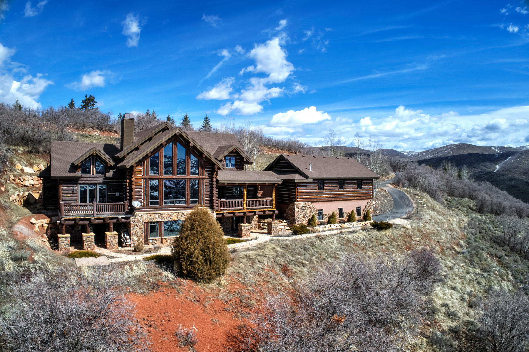 Single Family Home for Sale at Yellowstone Log Home in Jeremy 4115 W Moose Hollow Rd Park City, Utah 84098 United States