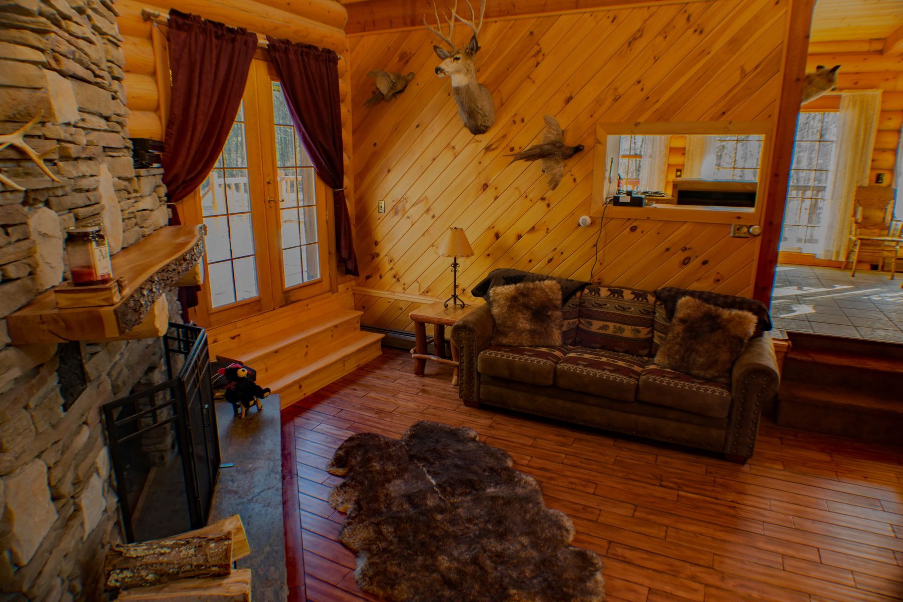 Additional photo for property listing at Unique Log Cabin on Five Serene Acres 866 Lone Pine Road Forestport, New York 13338 United States