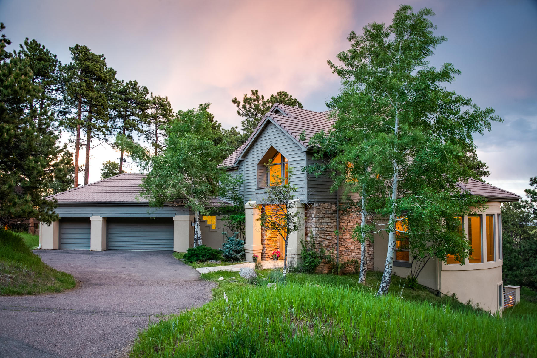 Single Family Homes for Sale at Sparkling City Light Views and Dramatic Sunset Colors Surrounded by Nature 1204 Snowberry Drive Golden, Colorado 80401 United States