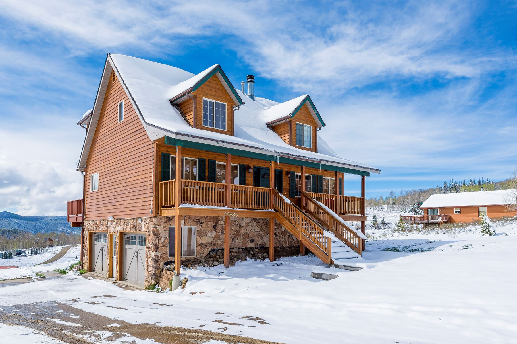 Single Family Home for Sale at Just North of Steamboat Springs, CO 26885 Neptune Place Clark, Colorado, 80428 United States