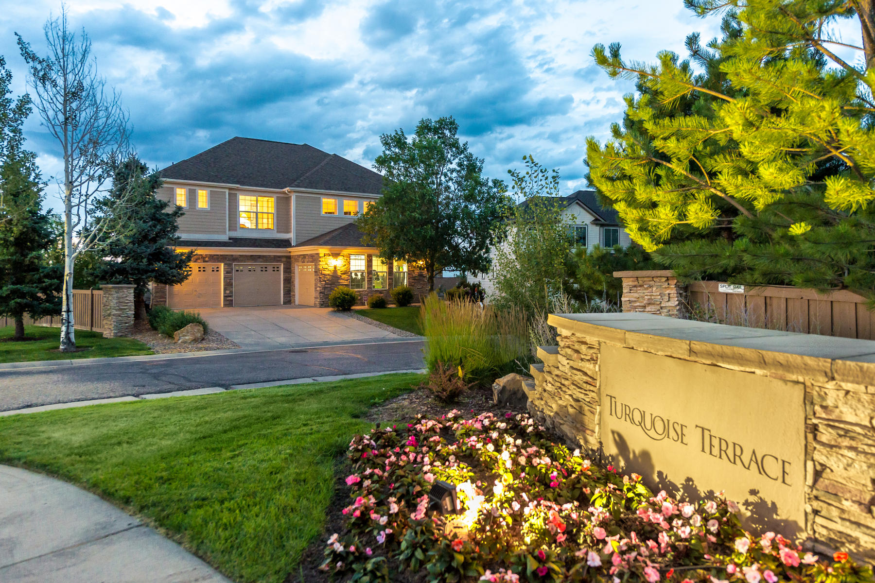 Single Family Home for Active at Beautiful mountain & city sweeping views 12422 Turquoise Terrace Pl Castle Pines, Colorado 80108 United States
