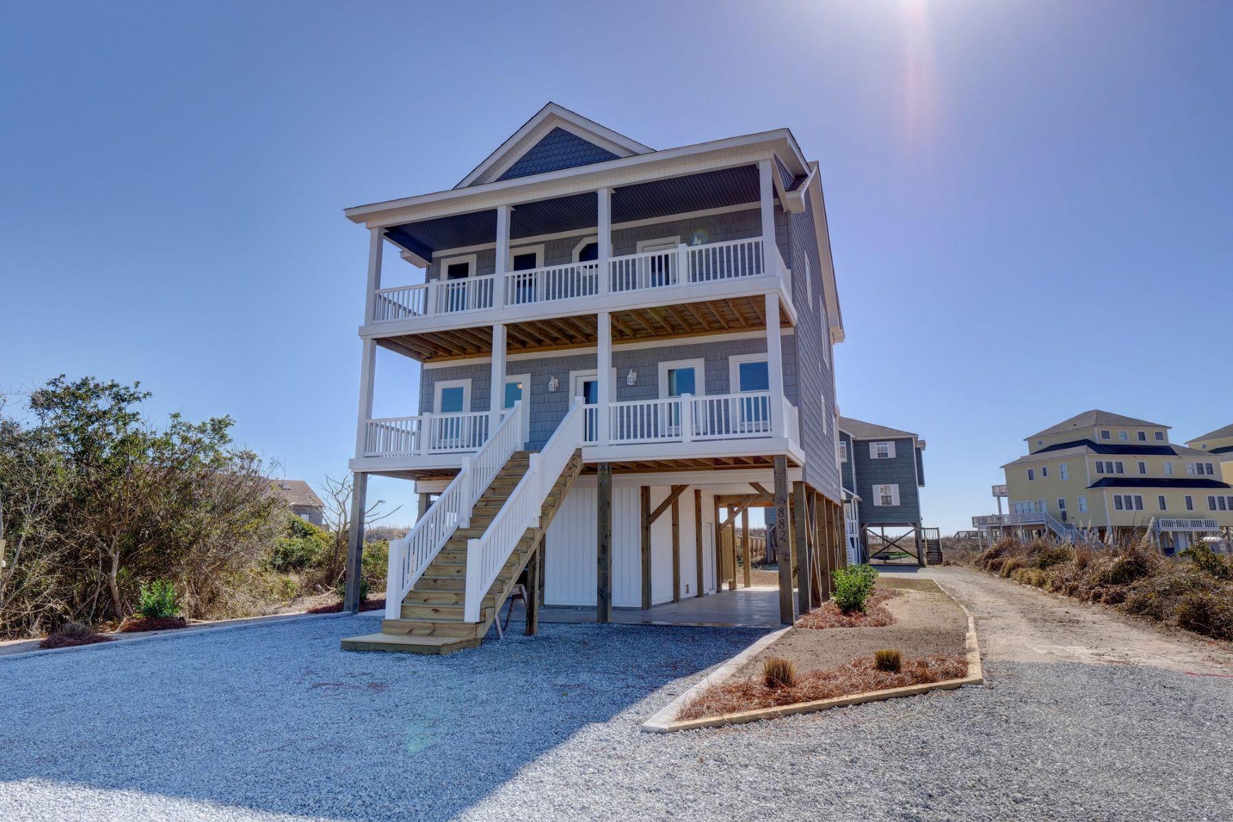 واحد منزل الأسرة للـ Sale في Brand New Spectacular Oceanfront Home 882 New River Inlet Road, N Topsail Beach, North Carolina, 28460 United States