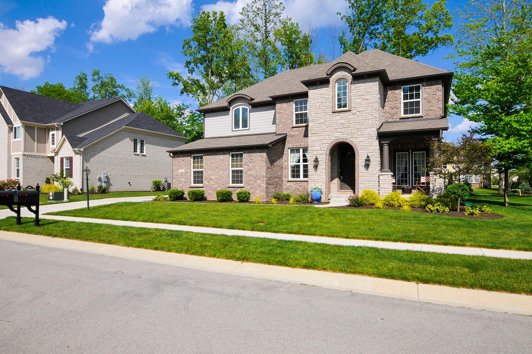 Частный односемейный дом для того Продажа на Dream Home on Beautiful Lot 2809 W. High Grove Circle Zionsville, Индиана, 46077 Соединенные Штаты