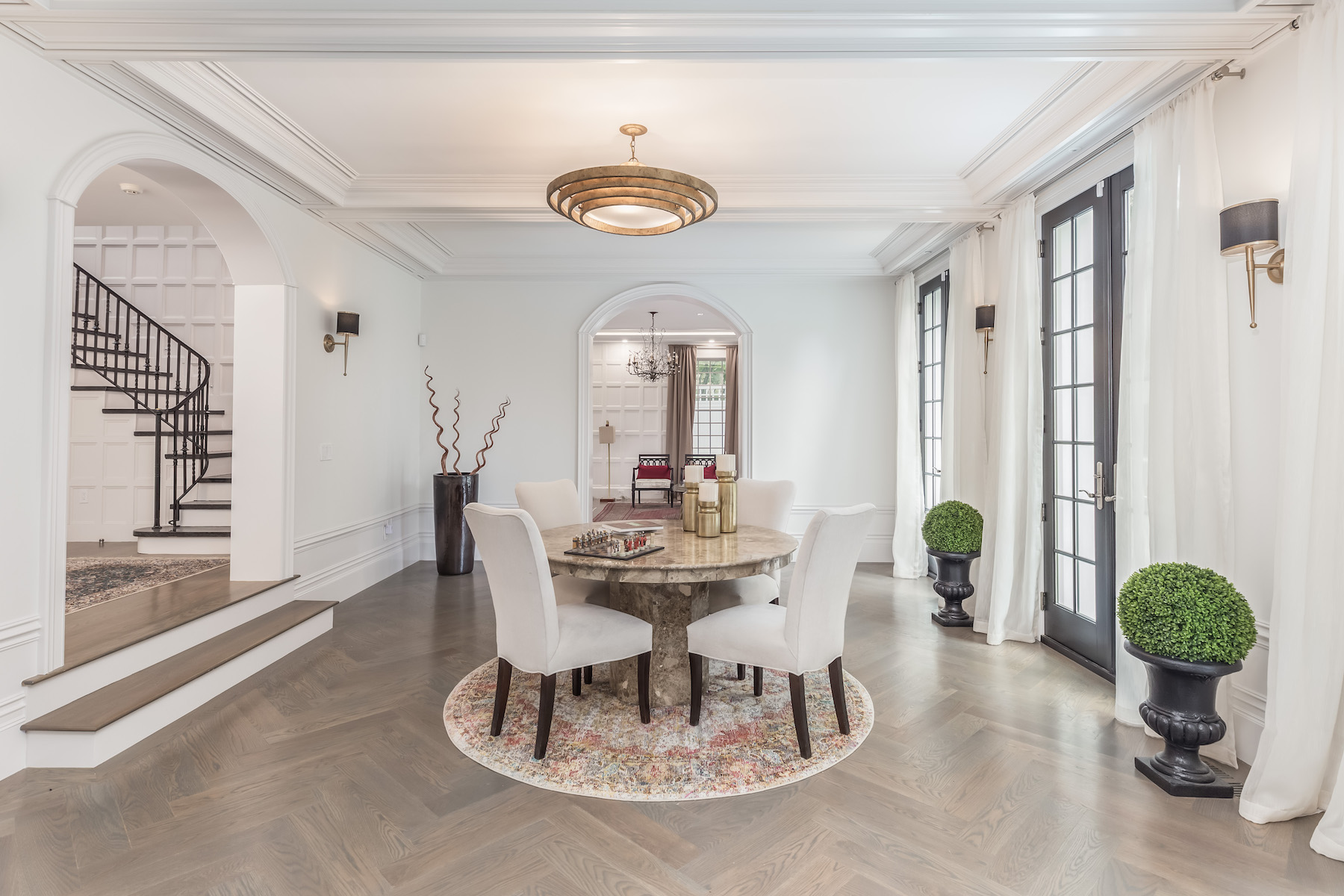 Single Family Homes for Sale at Magnificent Custom Residence 439 Chestnut Hill Avenue Brookline, Massachusetts 02445 United States