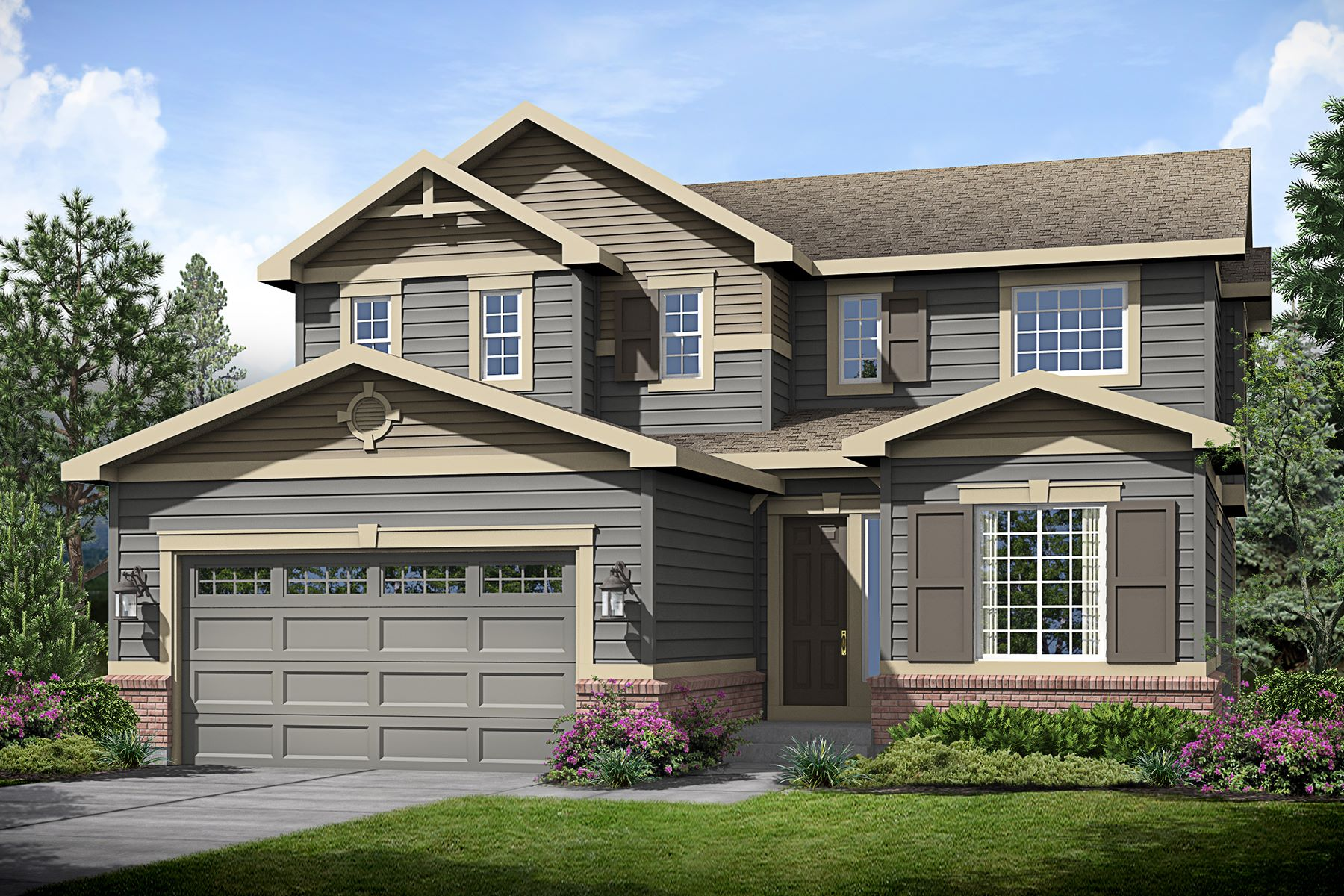 Single Family Home for Sale at Brand new home in Beacon Point 6671 S Newbern St Aurora, Colorado, 80016 United States