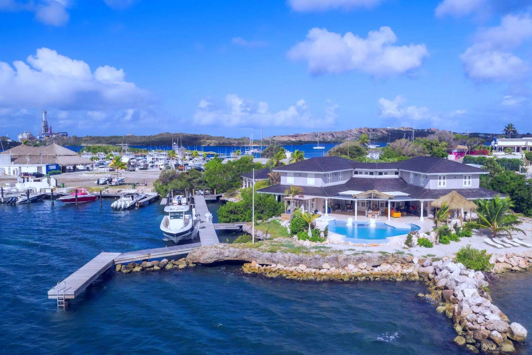 Single Family Homes for Sale at Brakkeput Waterfront Peninsula Villa 15 Willemstad, Curacao