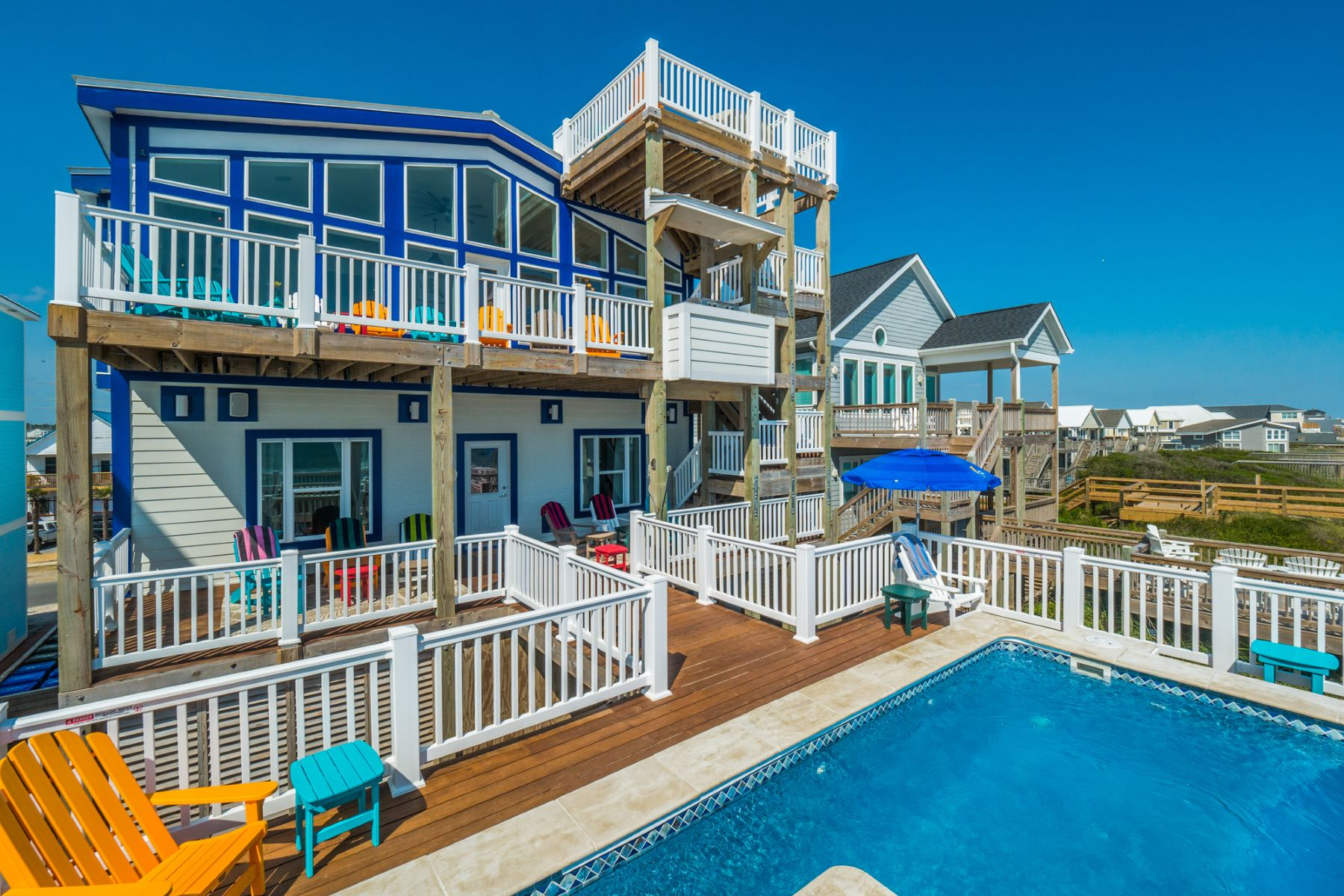 Single Family Homes 为 销售 在 Ultimate Family Beach House 124 N Shore Dr, Surf City, 北卡罗来纳州 28445 美国
