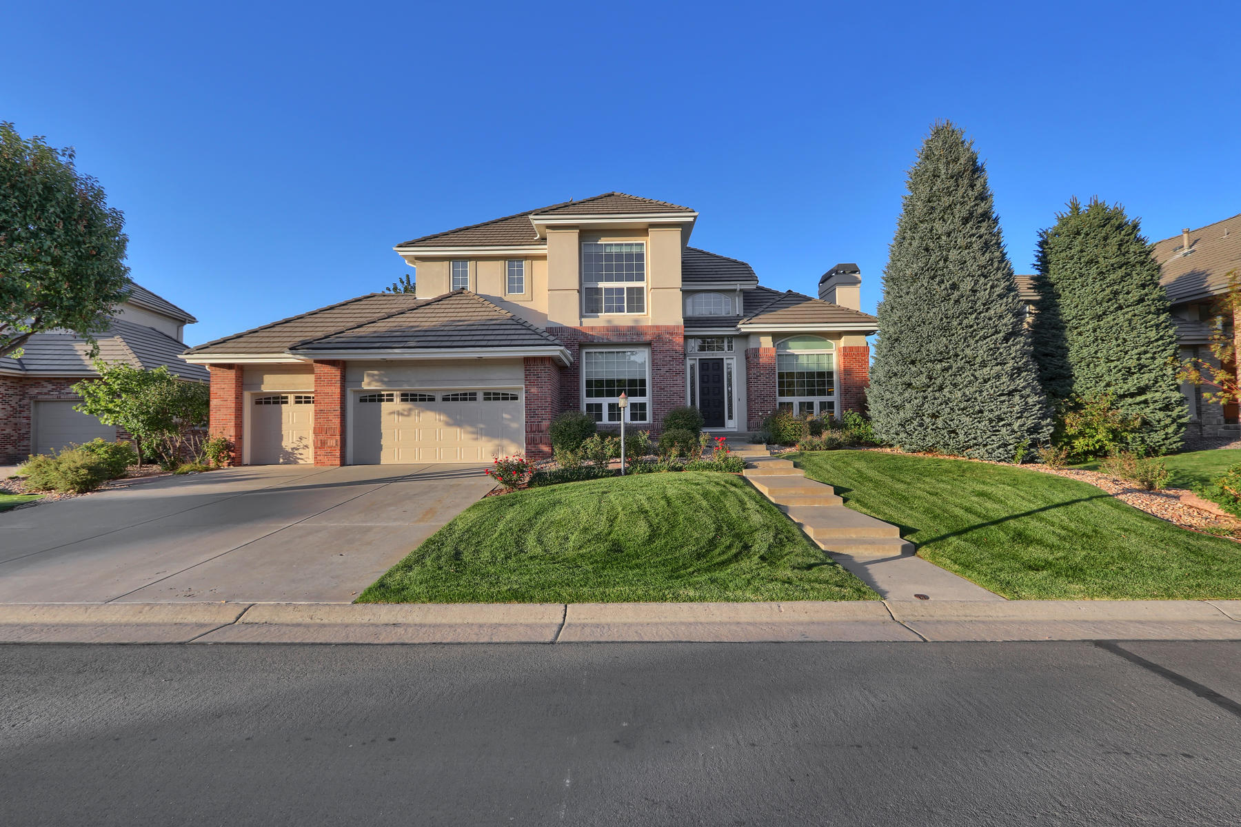 Single Family Homes for Sale at Enjoy spectacular mountain views from decks and many windows. 9385 E Hidden Hill Ln Lone Tree, Colorado 80124 United States