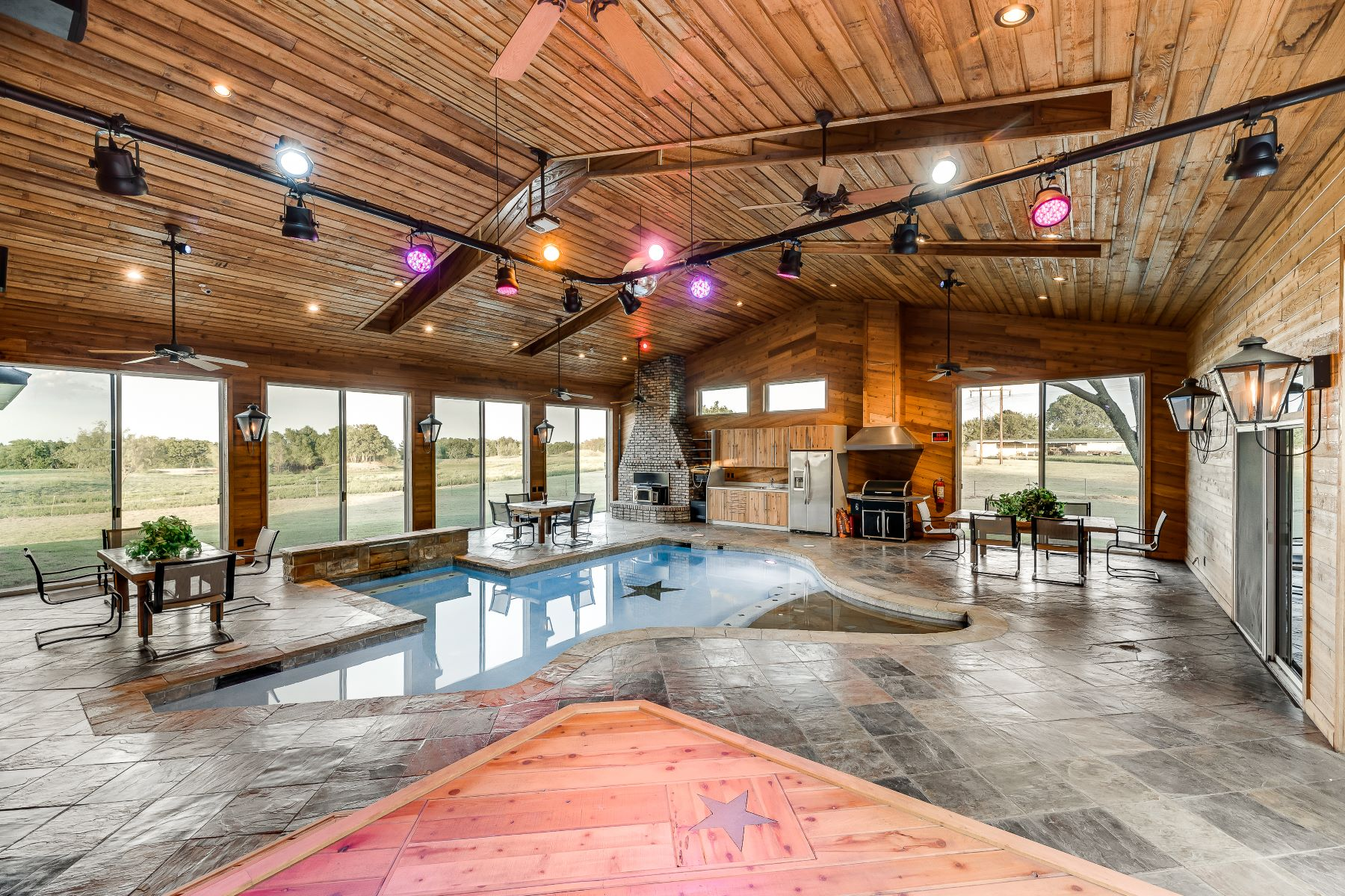 Single Family Homes for Sale at Entertain in Style! 209 Sabine Creek Road 2 acres Royse City, Texas 75189 United States