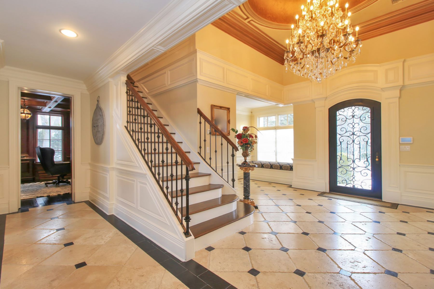 واحد منزل الأسرة للـ Sale في Spectacular Custom Masterpiece 31 Hampshire Hill Rd Upper Saddle River, New Jersey, 07458 United States