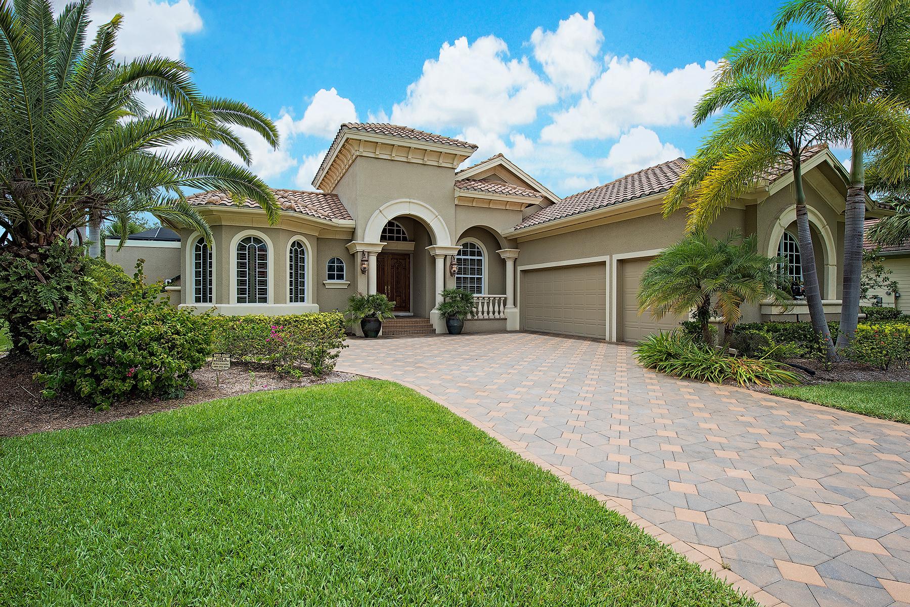Single Family Homes por un Venta en VERANDAH - SANCTUARY POINT 3321 Sanctuary Point, Fort Myers, Florida 33905 Estados Unidos
