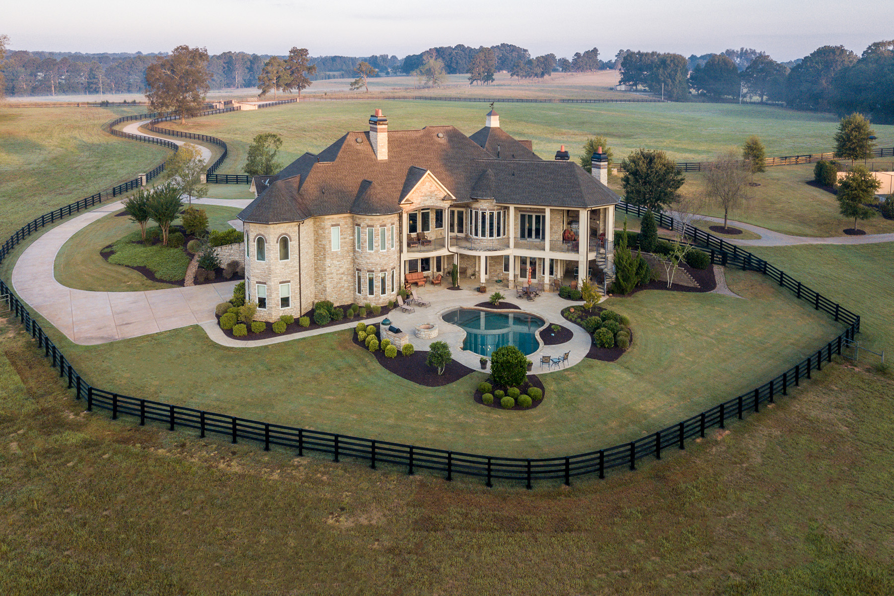 Farm / Ranch / Plantation for Sale at Exquisite Equestrian Estate 450 Walter Moore Road Jackson, Georgia 30233 United States