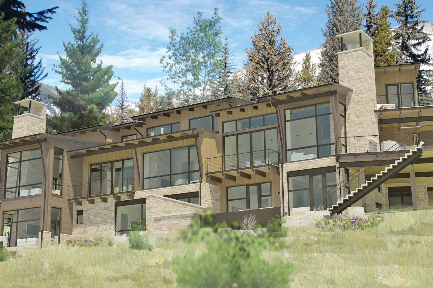 Duplo para Venda às New Construction on Gore Creek 223 Beaver Dam Road Vail Village, Vail, Colorado, 81657 Estados Unidos