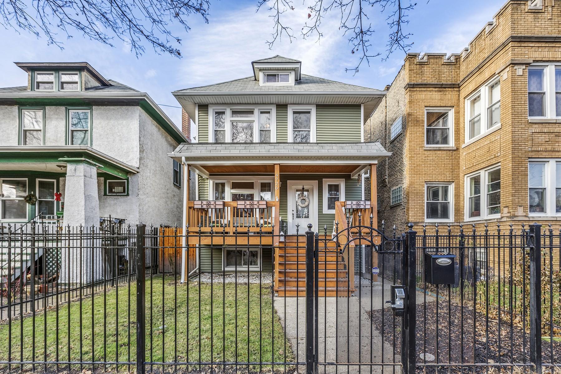 Частный односемейный дом для того Продажа на Like-New Construction 4726 N Drake Avenue, Albany Park, Chicago, Иллинойс, 60625 Соединенные Штаты