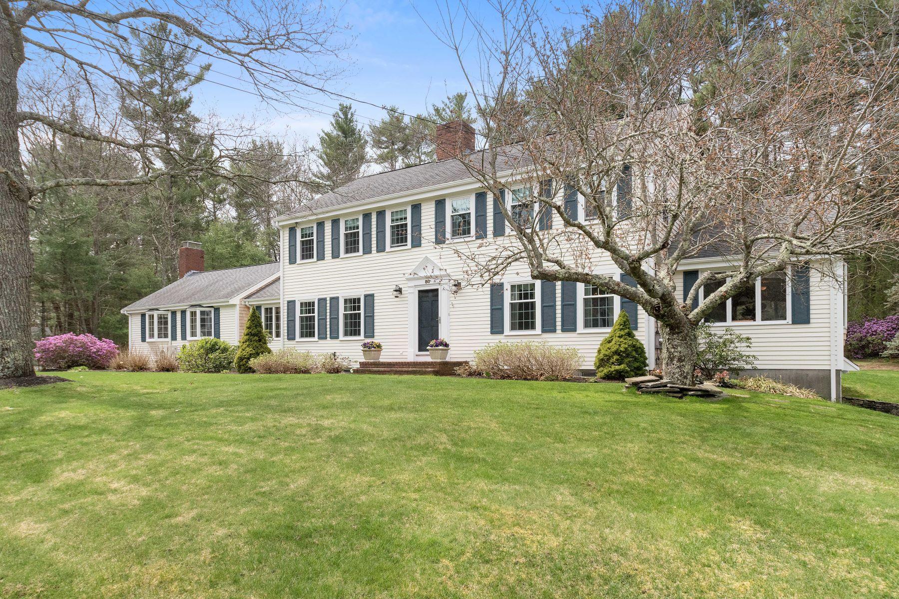 Casa Unifamiliar por un Venta en Stately Colonial in Quiet Neighborhood 80 Flint Locke Drive Duxbury, Massachusetts, 02332 Estados Unidos