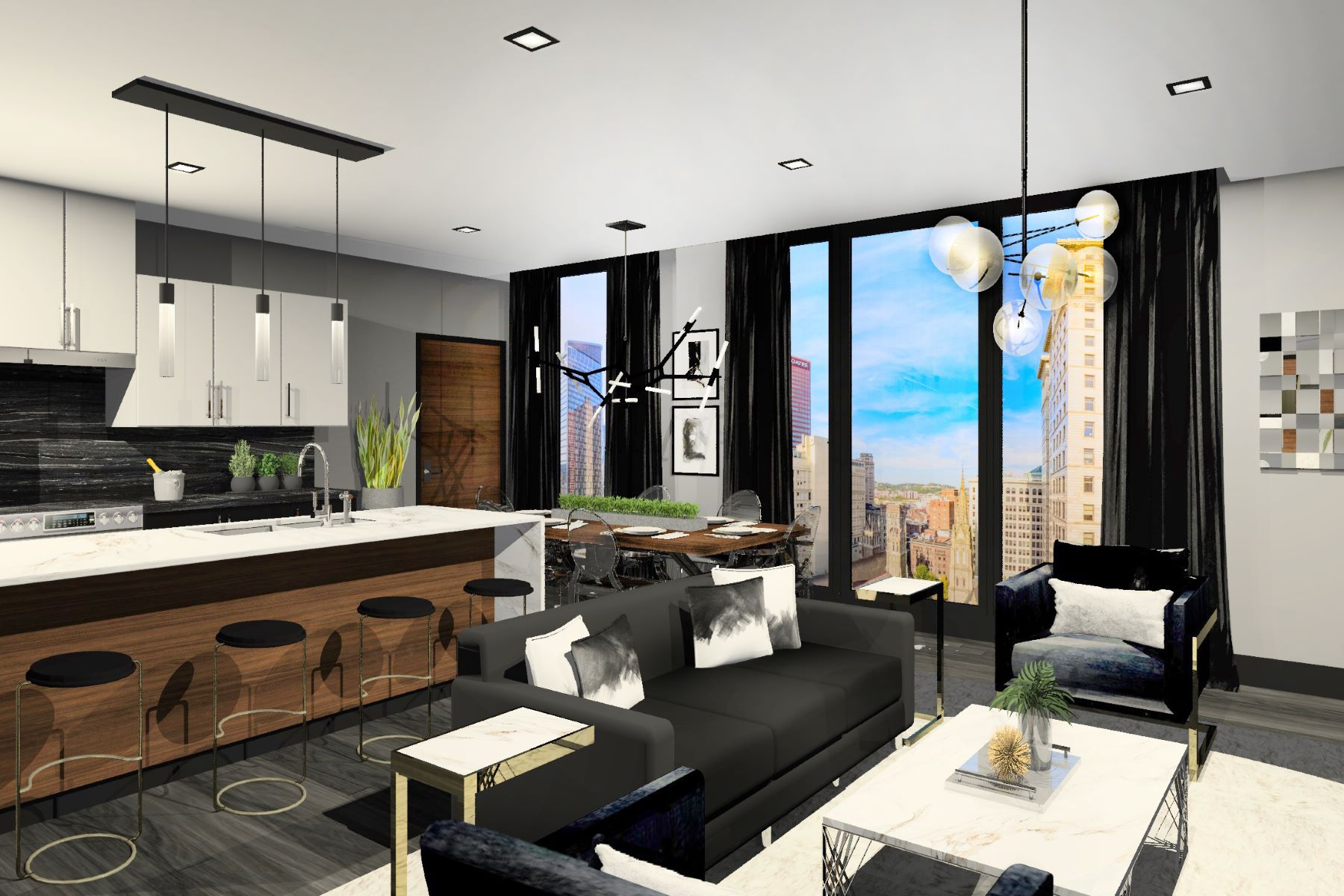 Condominiums for Sale at One-of-a-Kind Sky Home at Lumière 350 Oliver Avenue, Residence #802 350 Oliver Ave 802, Pittsburgh, Pennsylvania 15222 United States
