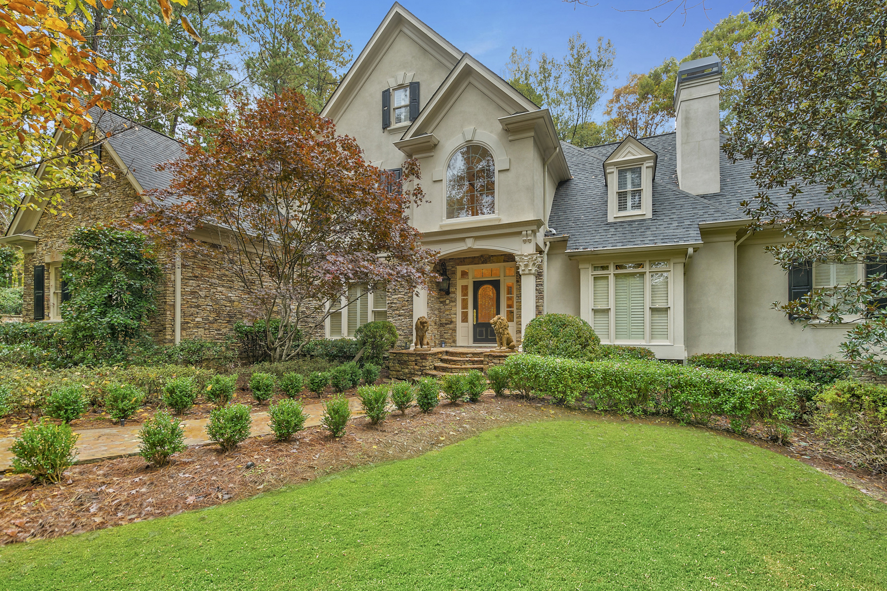 Single Family Home for Sale at Southern Estate Atop An Acre Plus Lot Directly On The Golf Course 9250 Old Southwick Pass Alpharetta, Georgia 30022 United States