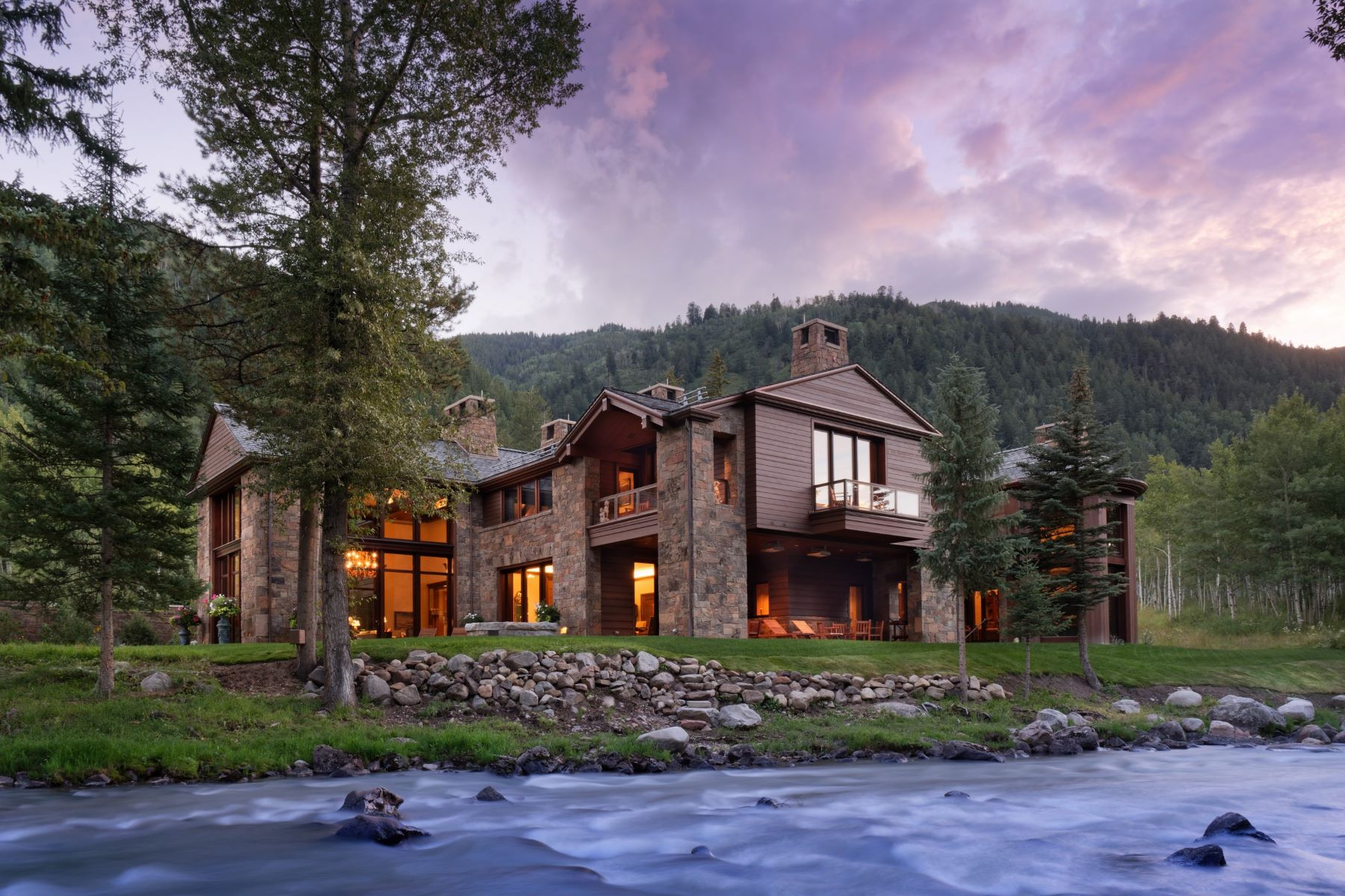 Single Family Homes for Sale at Talk About a Water Feature! 41 Popcorn Lane, Aspen, Colorado 81611 United States