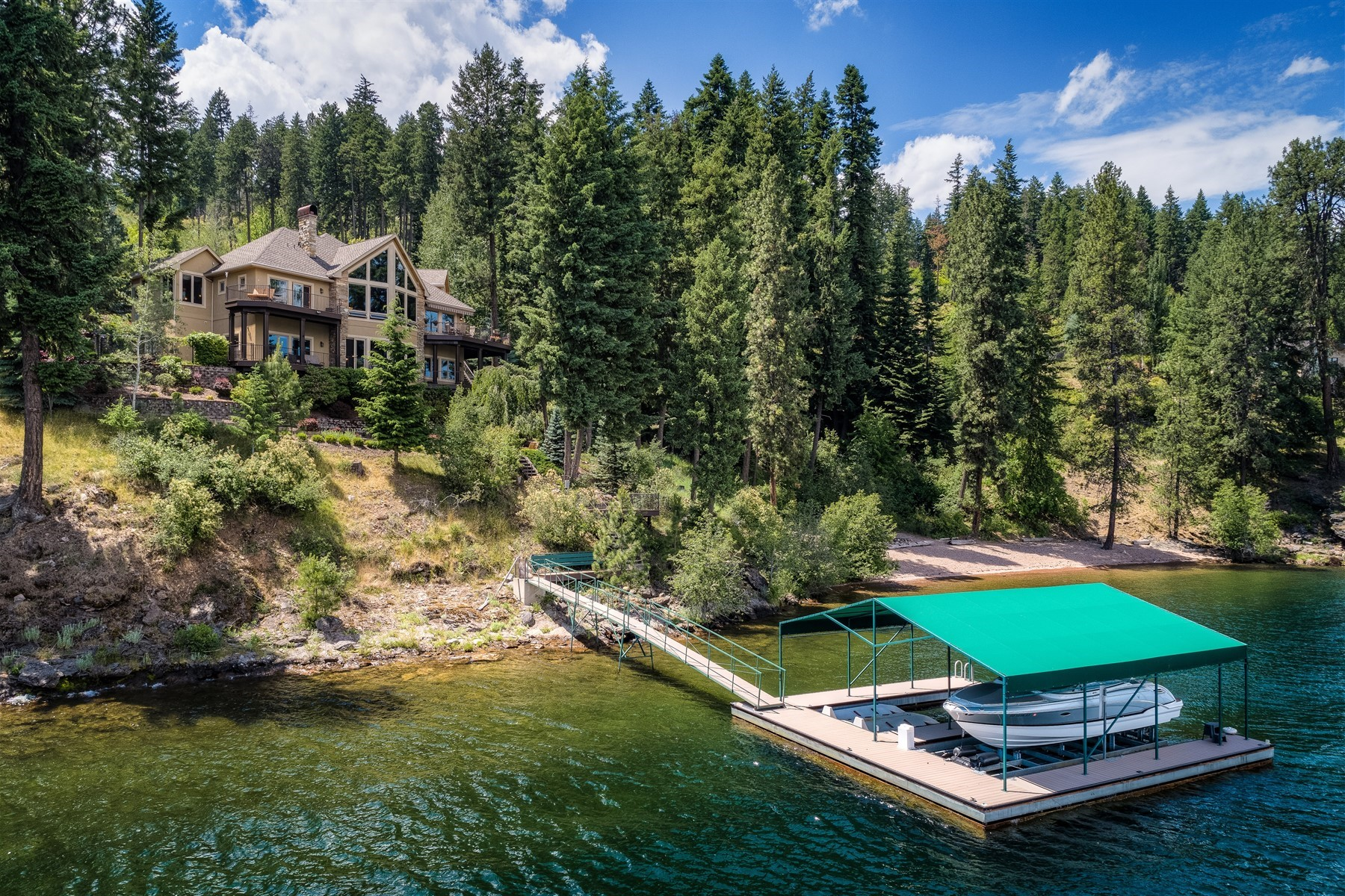Single Family Homes for Active at CdA Lakefront Rare Beauty 4250 S Threemile Point Rd Coeur D Alene, Idaho 83814 United States