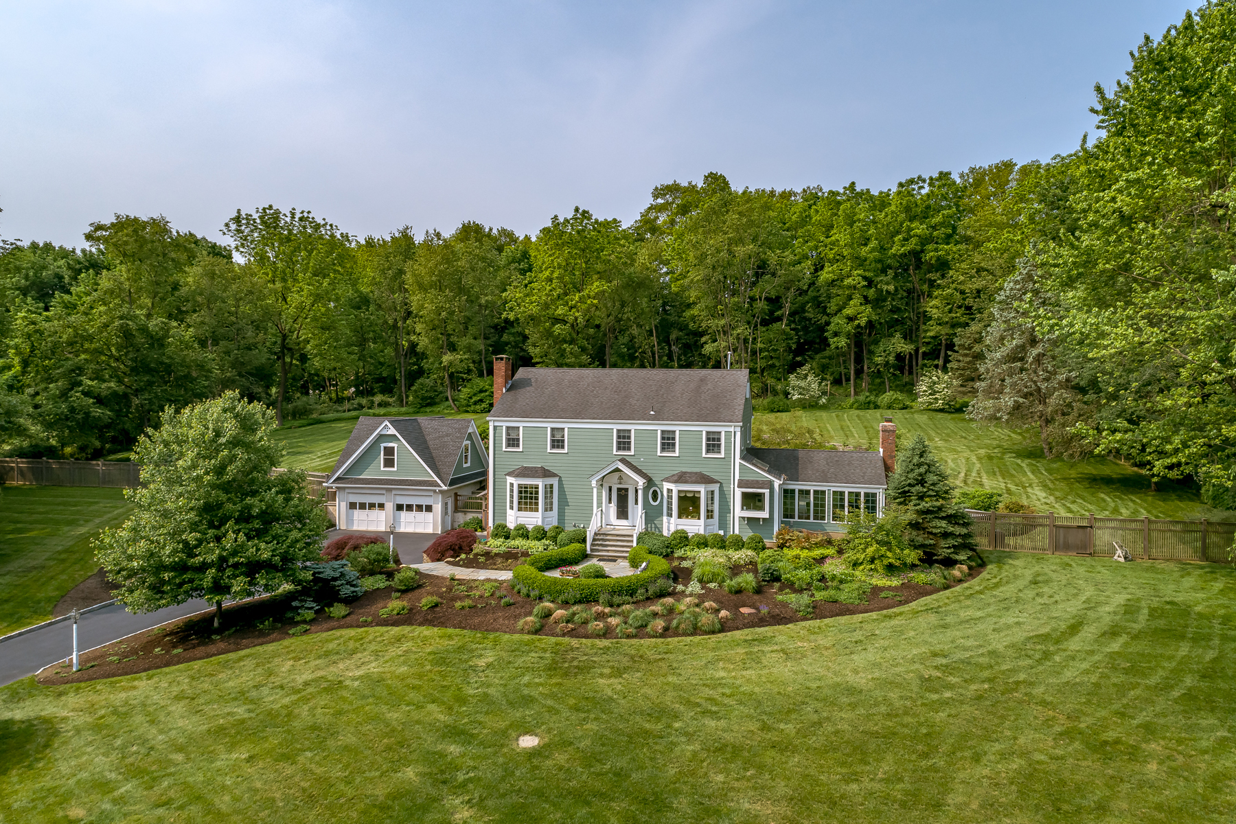 Single Family Homes for Sale at Bucolic mini estate in full bloom 79 Lowery Lane Mendham, New Jersey 07945 United States
