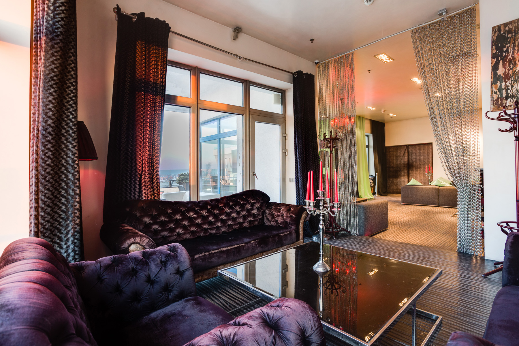 Apartments için Kiralama at Penthouse 290 sq.m. in the Residential Complex Vorobyovy Gory Moscow, Moskova Rusya