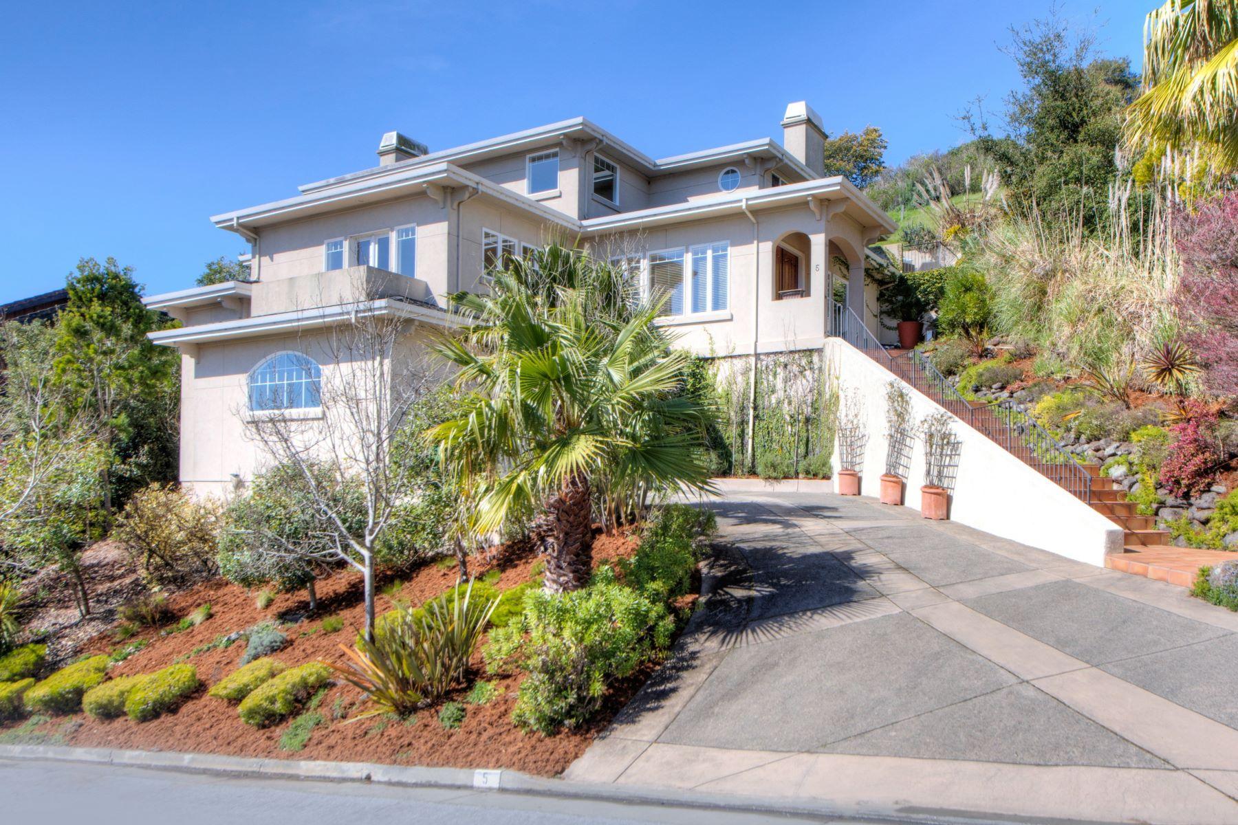 Casa Unifamiliar por un Venta en Perfection & Elegance in Mill Valley 5 Vista Real Mill Valley, California, 94941 Estados Unidos