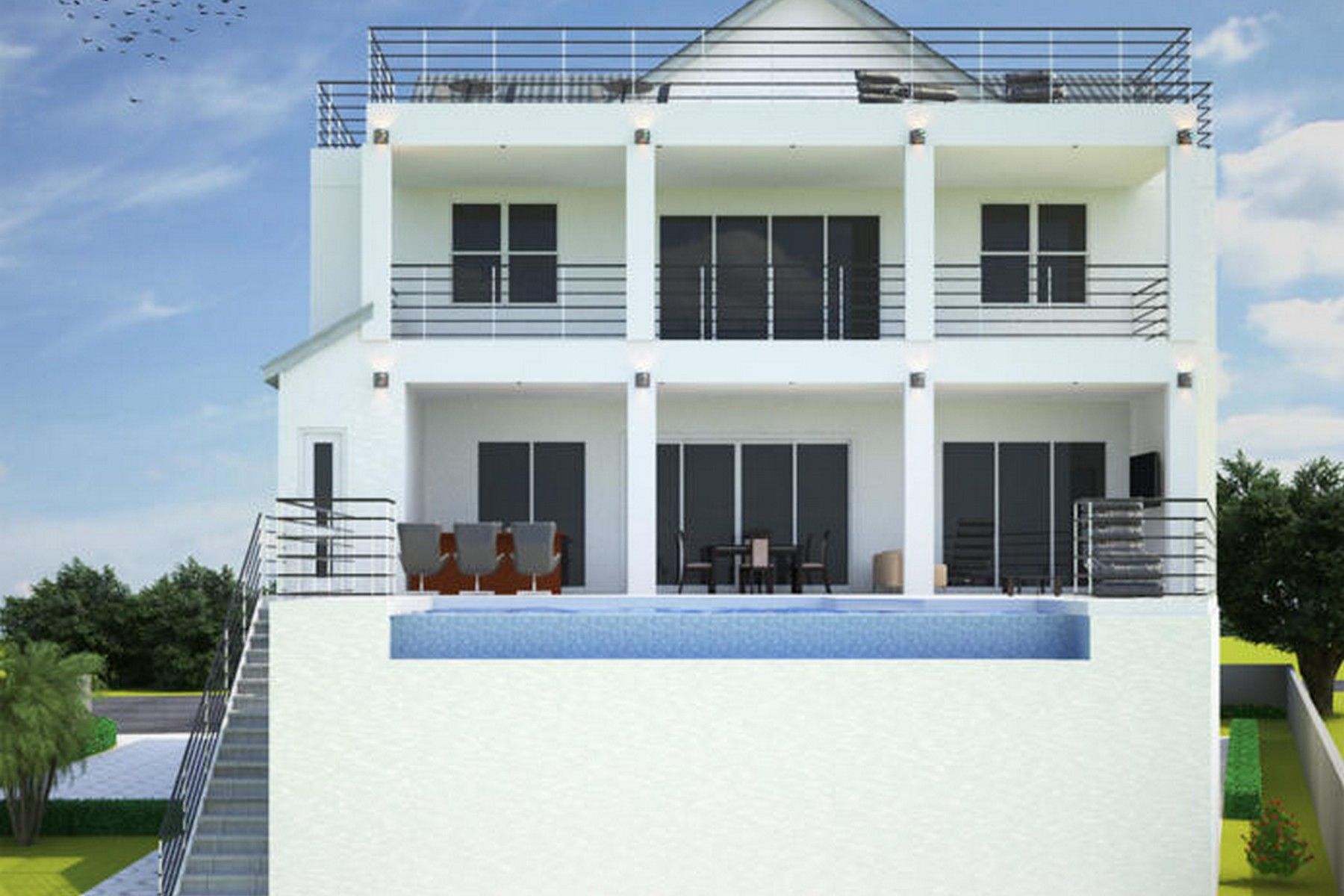 Property для того Продажа на Custom Oceanfront Pool Resort 5485 Highway A1A Melbourne Beach, Флорида 32951 Соединенные Штаты