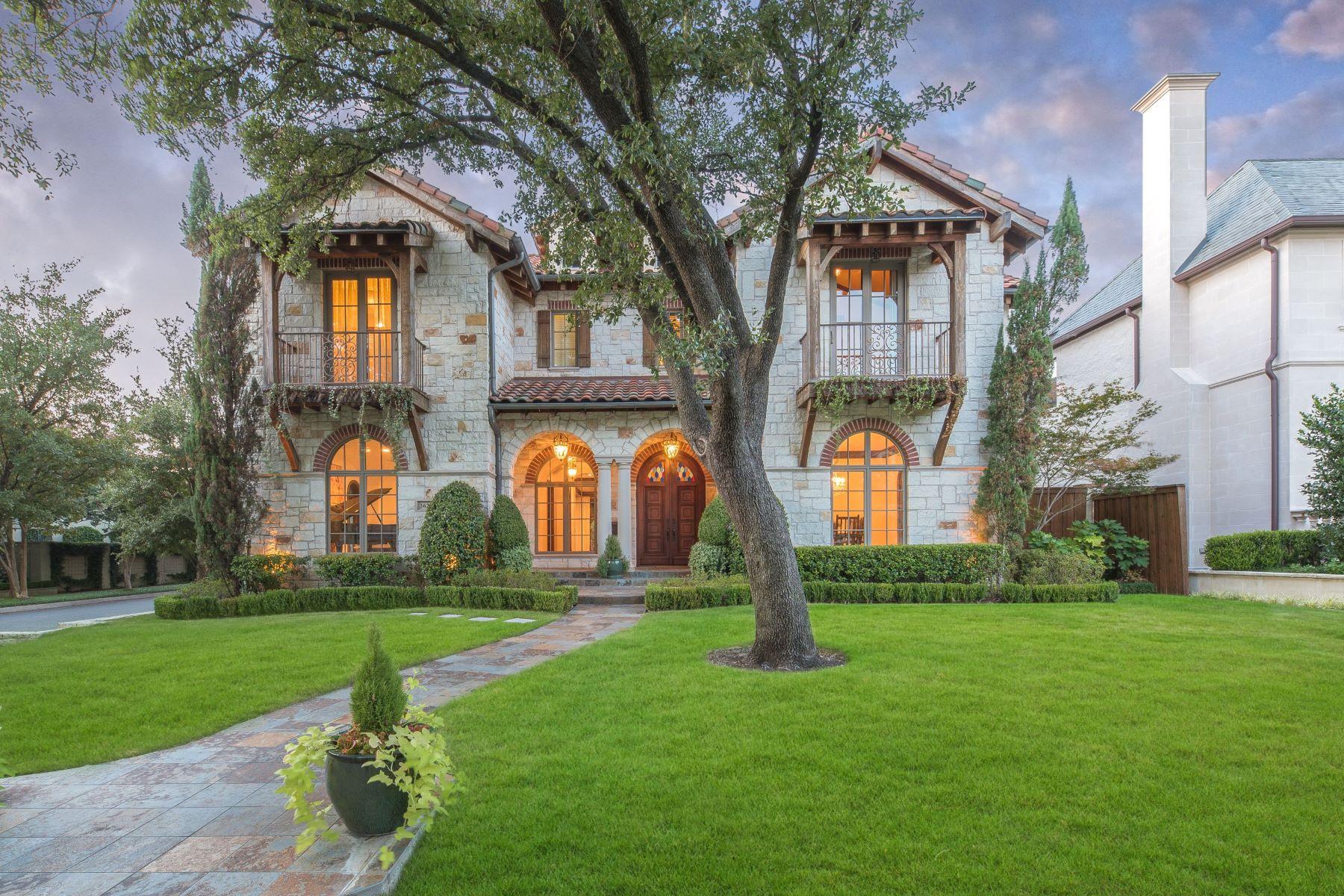 Single Family Homes for Sale at Prestigious Highland Park Mediterranean 3628 Dartmouth Avenue Highland Park, Texas 75205 United States