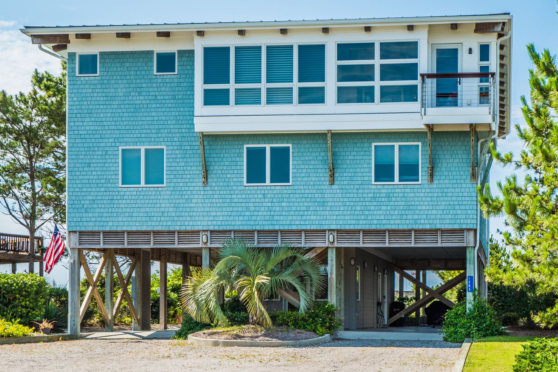 Single Family Home for Sale at Oceanfront Masterpiece in Gated Community 1283 Ocean Boulevard W Holden Beach, North Carolina 28462 United States