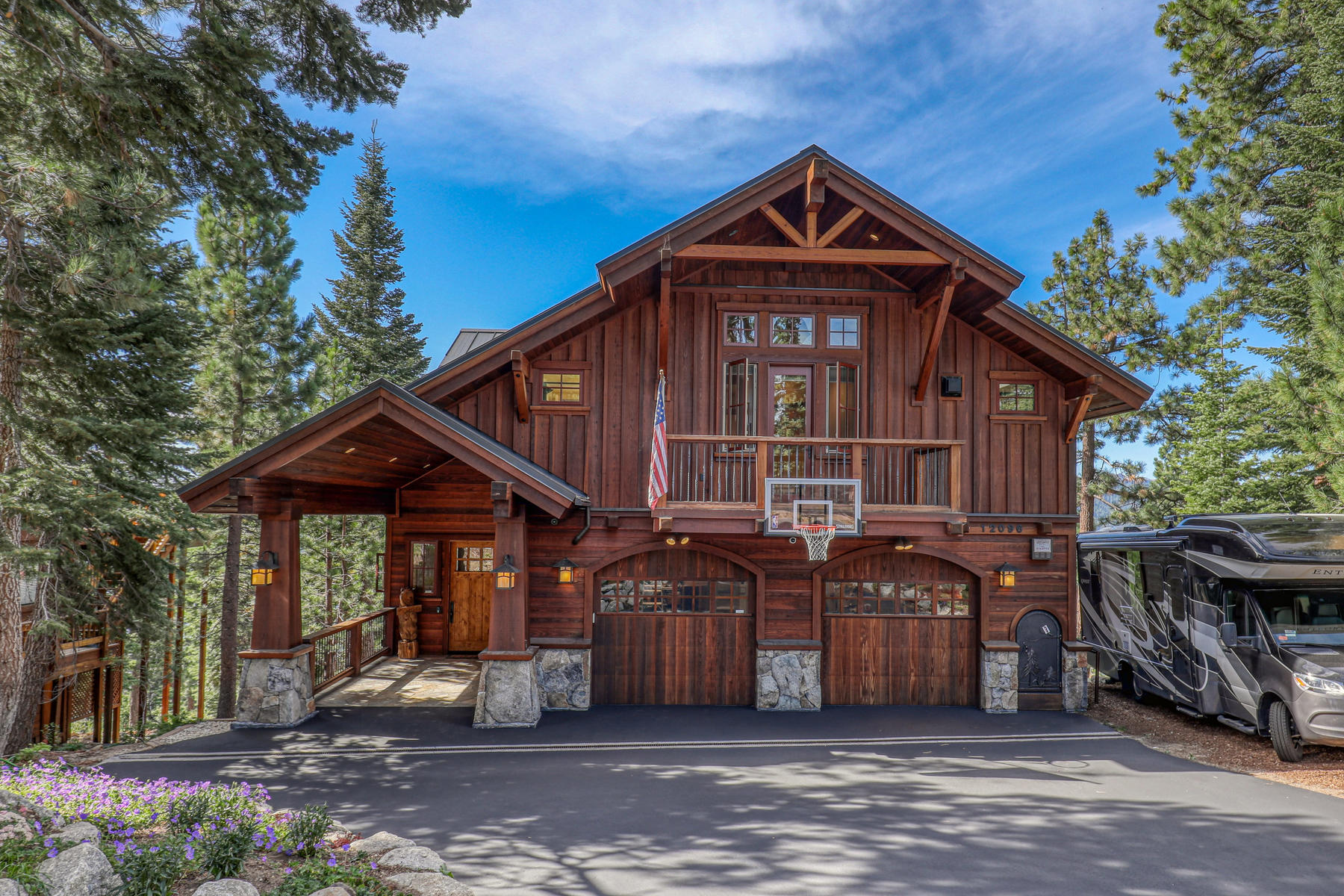Single Family Homes for Active at Spectacular Donner Lake views 12096 Skislope Way Truckee, California 96161 United States