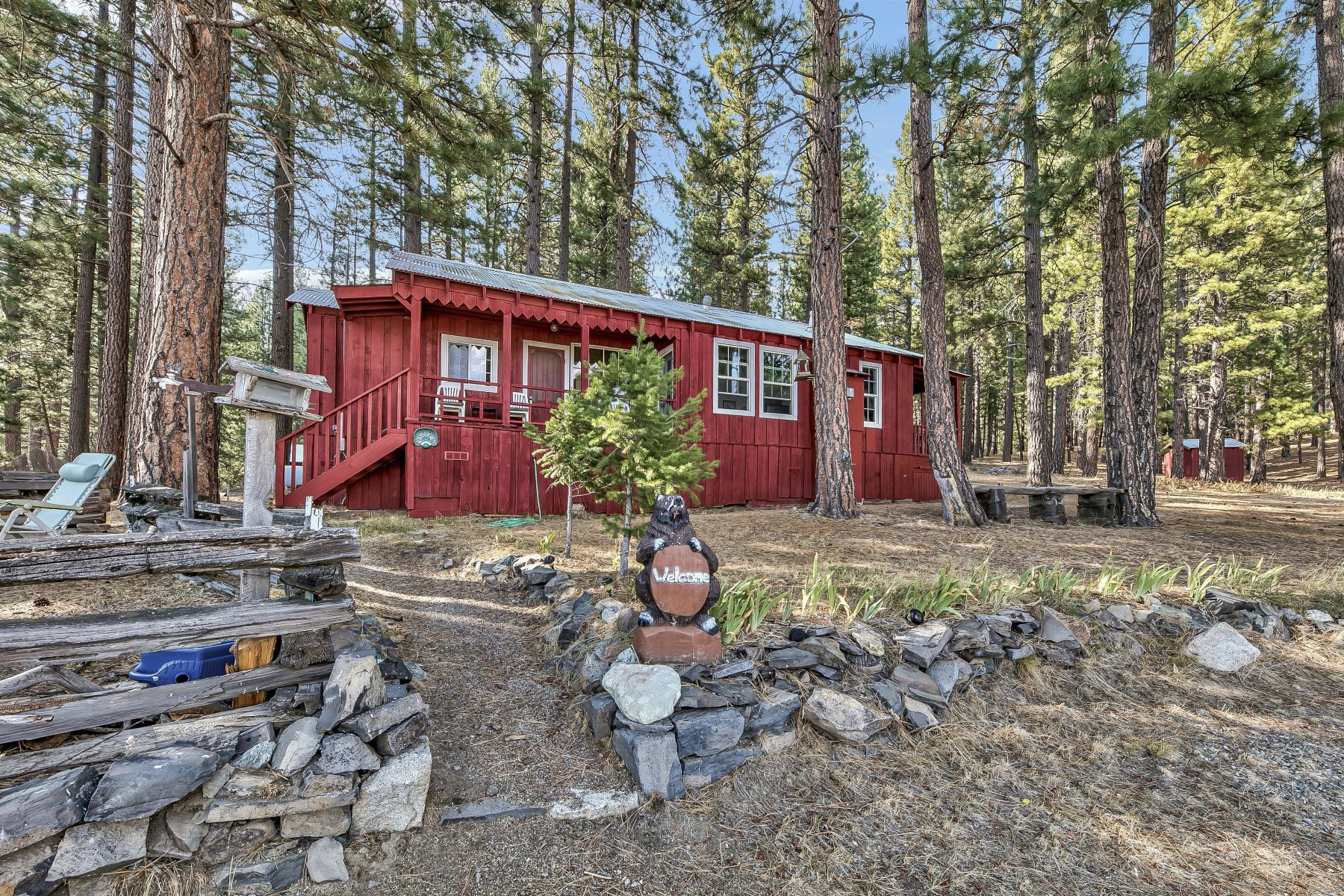 Single Family Homes for Active at Cute Red Cabin 10 Egbert Lane Sattley, California 96124 United States