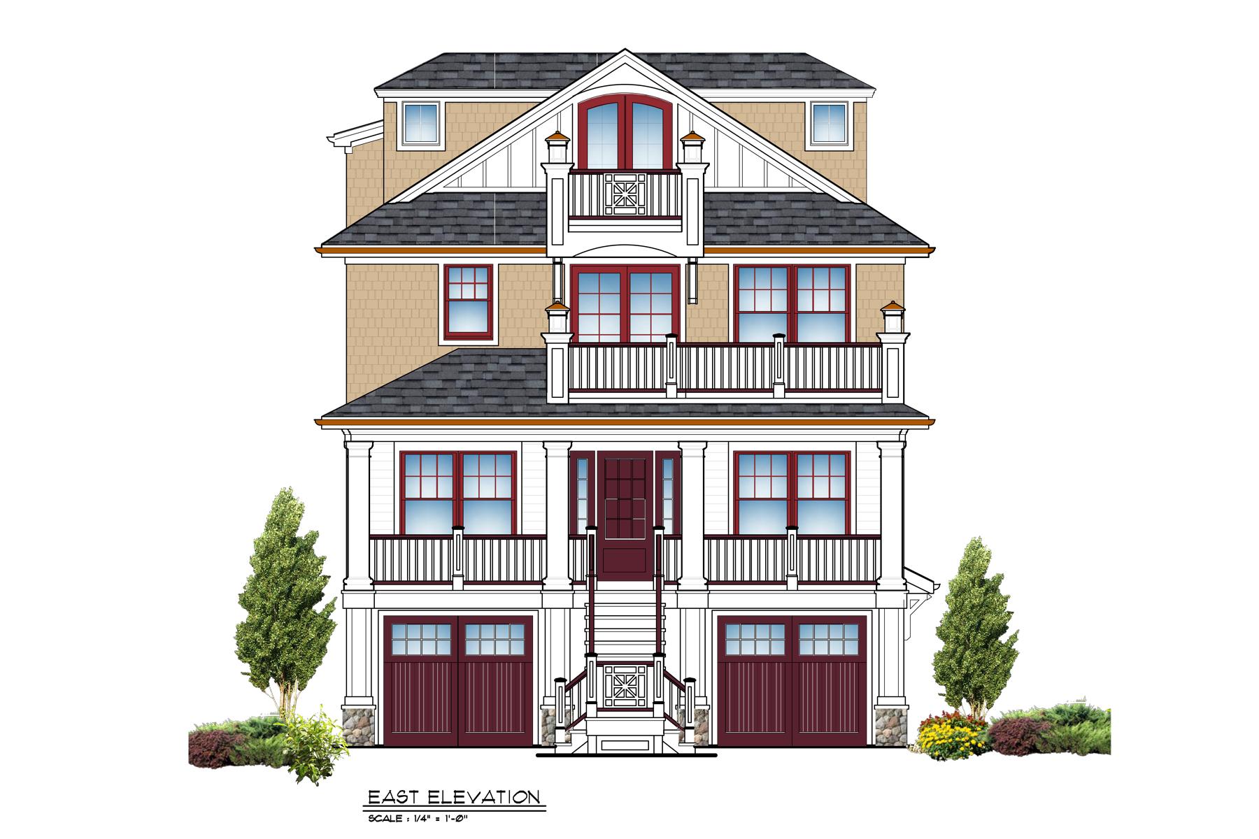 Частный односемейный дом для того Продажа на Premier Location With Magnificent Ocean Views 519 Sunset Boulevard, Mantoloking, Нью-Джерси 08738 Соединенные Штаты