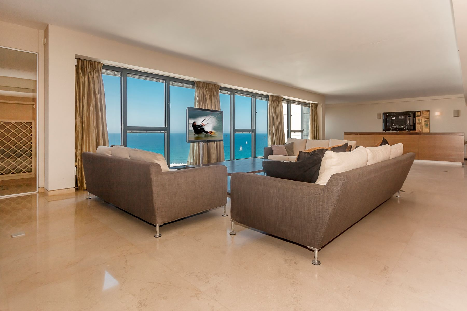 Apartment for Sale at Harmonious One-Level Penthouse in Marina Towers Herzliya Pituach, Israel Israel