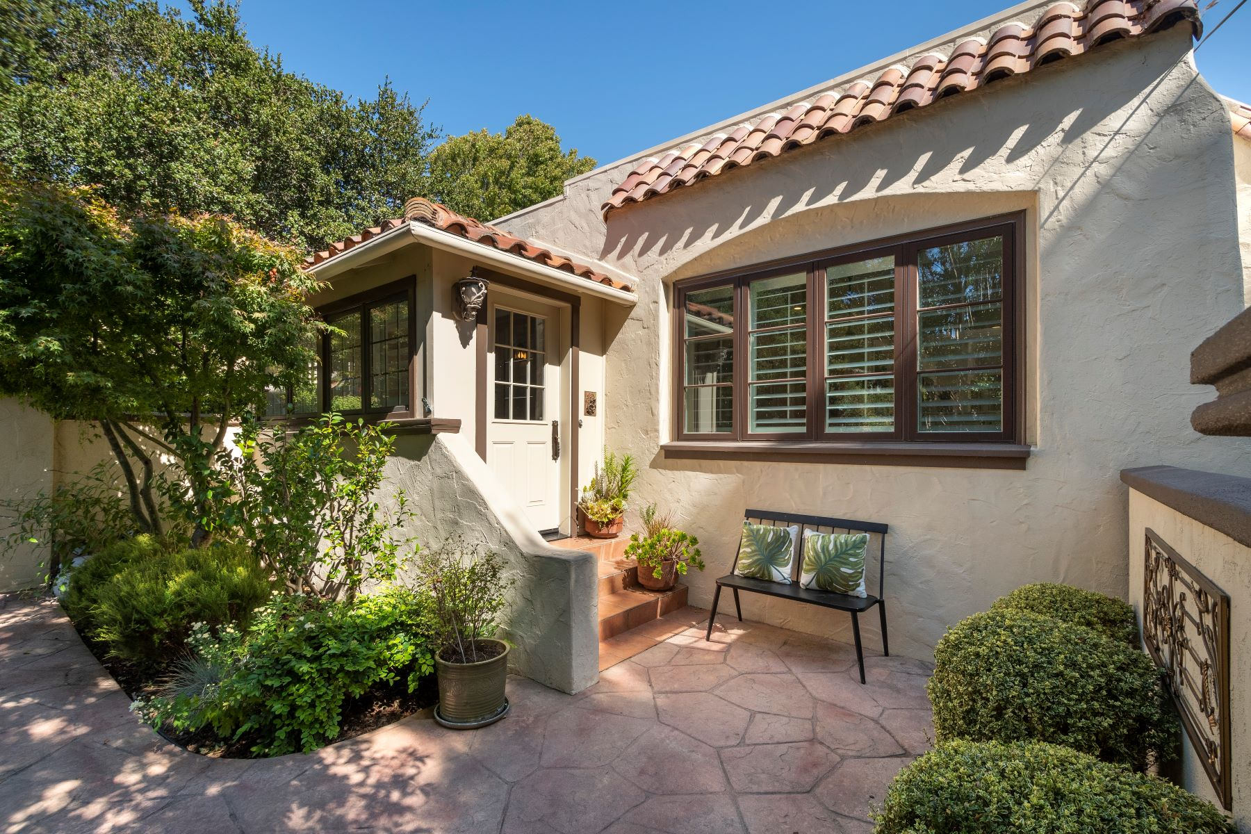 Single Family Homes for Sale at Mediterranean Style Home Filled with Charm 813 Covington Road Belmont, California 94002 United States