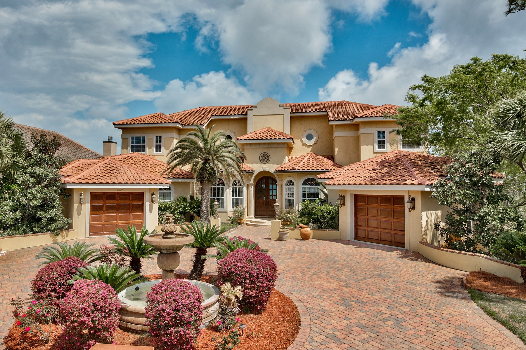 Single Family Home for Sale at MEDITERRANEAN STYLE BLENDS SEAMLESSLY WITH FLORIDA WATERFRONT LUXURY 1239 Driftwood Point Road Santa Rosa Beach, Florida, 32459 United States