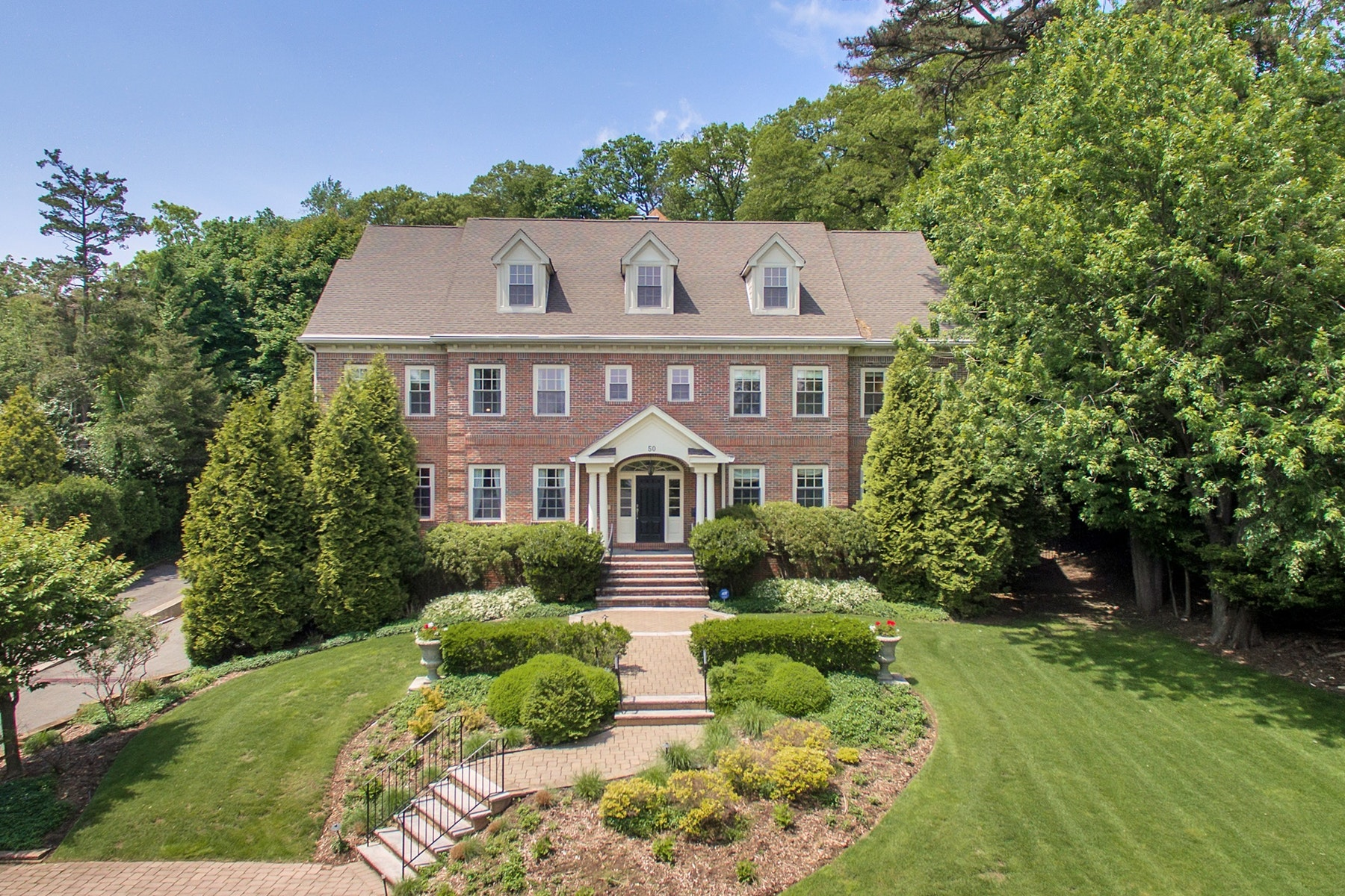 Single Family Homes for Sale at Stunning Custom Colonial 50 Highland Avenue Montclair, New Jersey 07042 United States