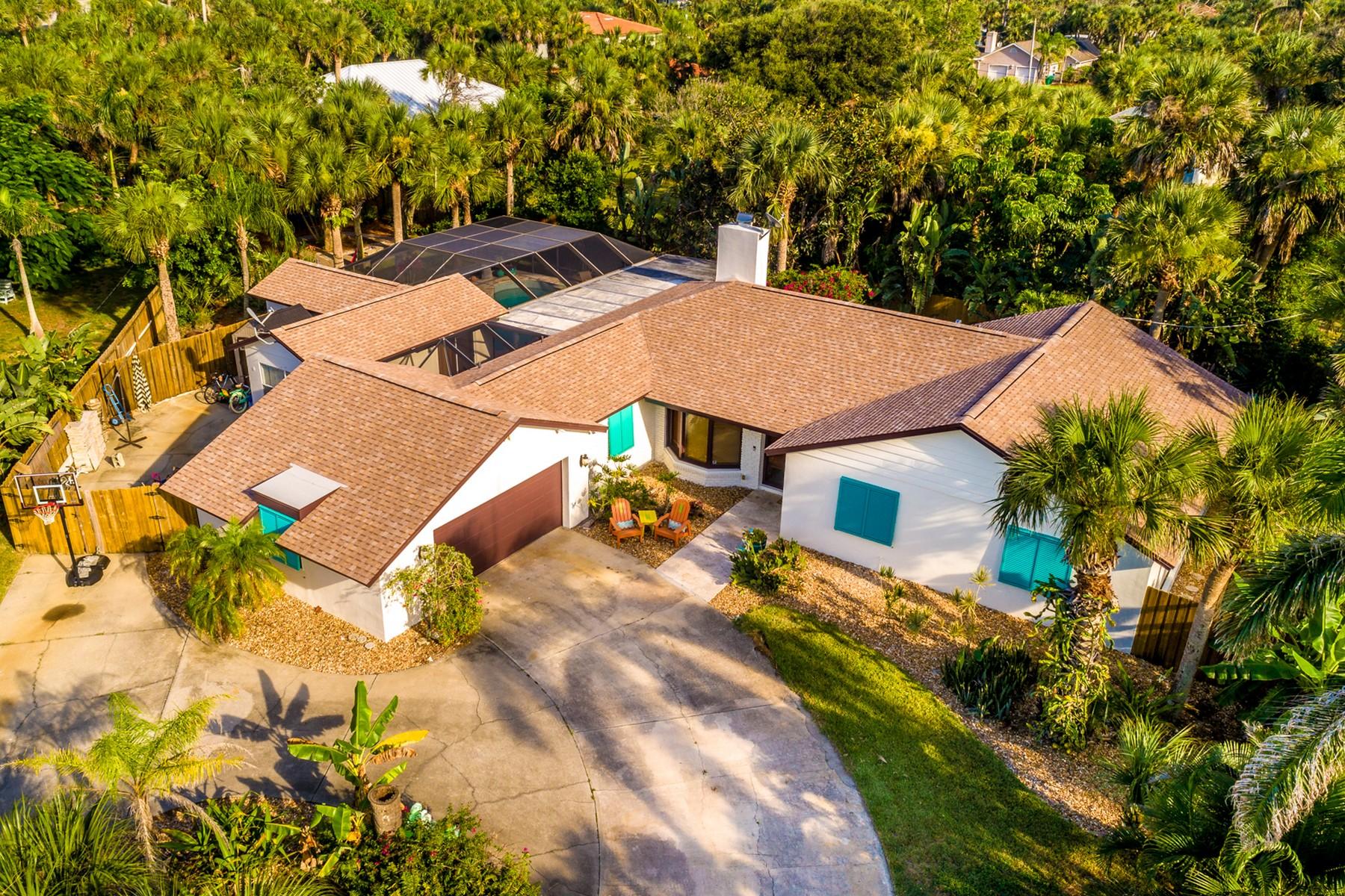 独户住宅 为 销售 在 Steps Away From the Atlantic Ocean 401 Andrews Drive 墨尔本海滩, 佛罗里达州 32951 美国