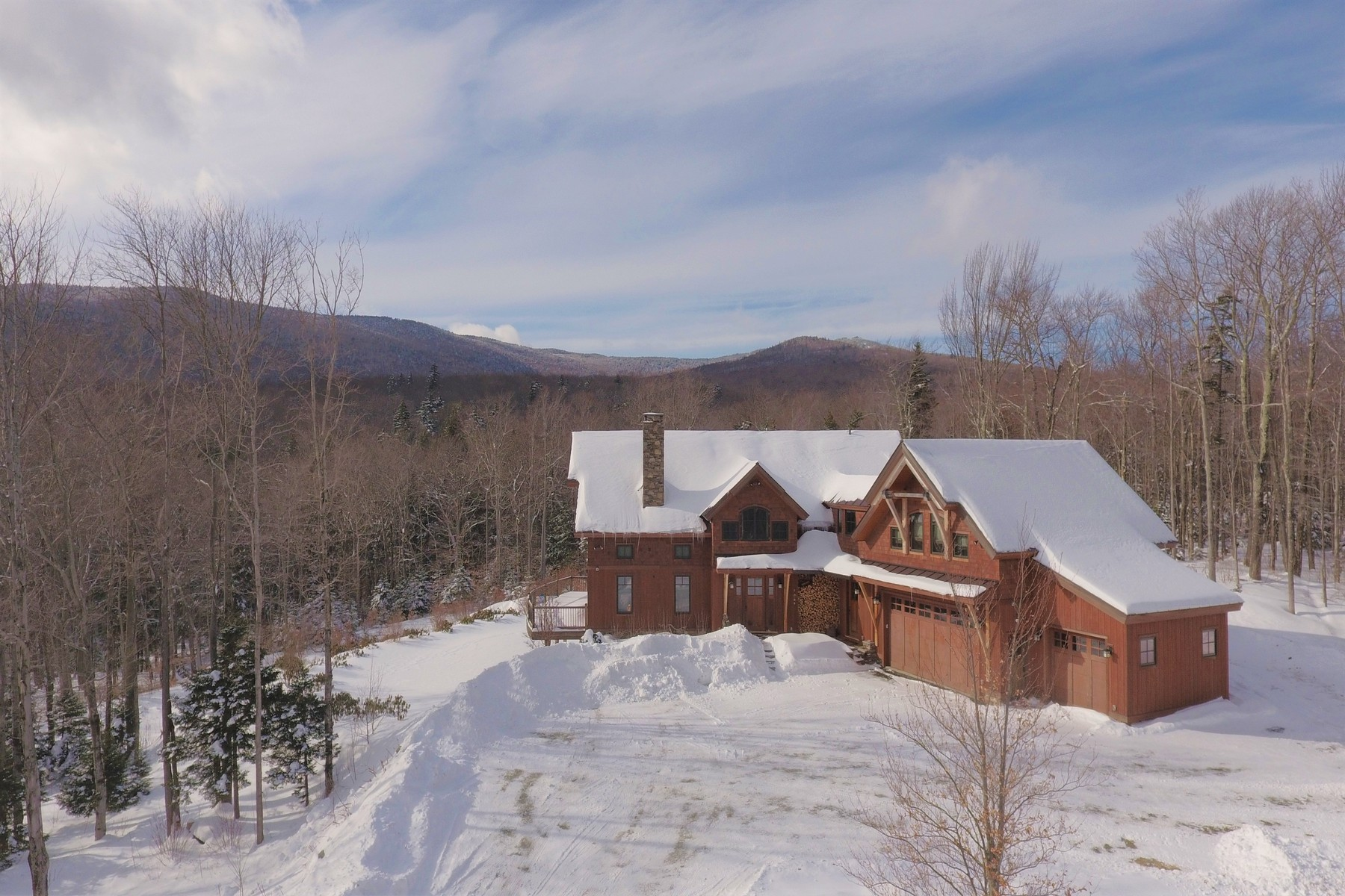 Single Family Homes for Sale at Spectacular Location, Views and Home 133A Handle Road Dover, Vermont 05356 United States