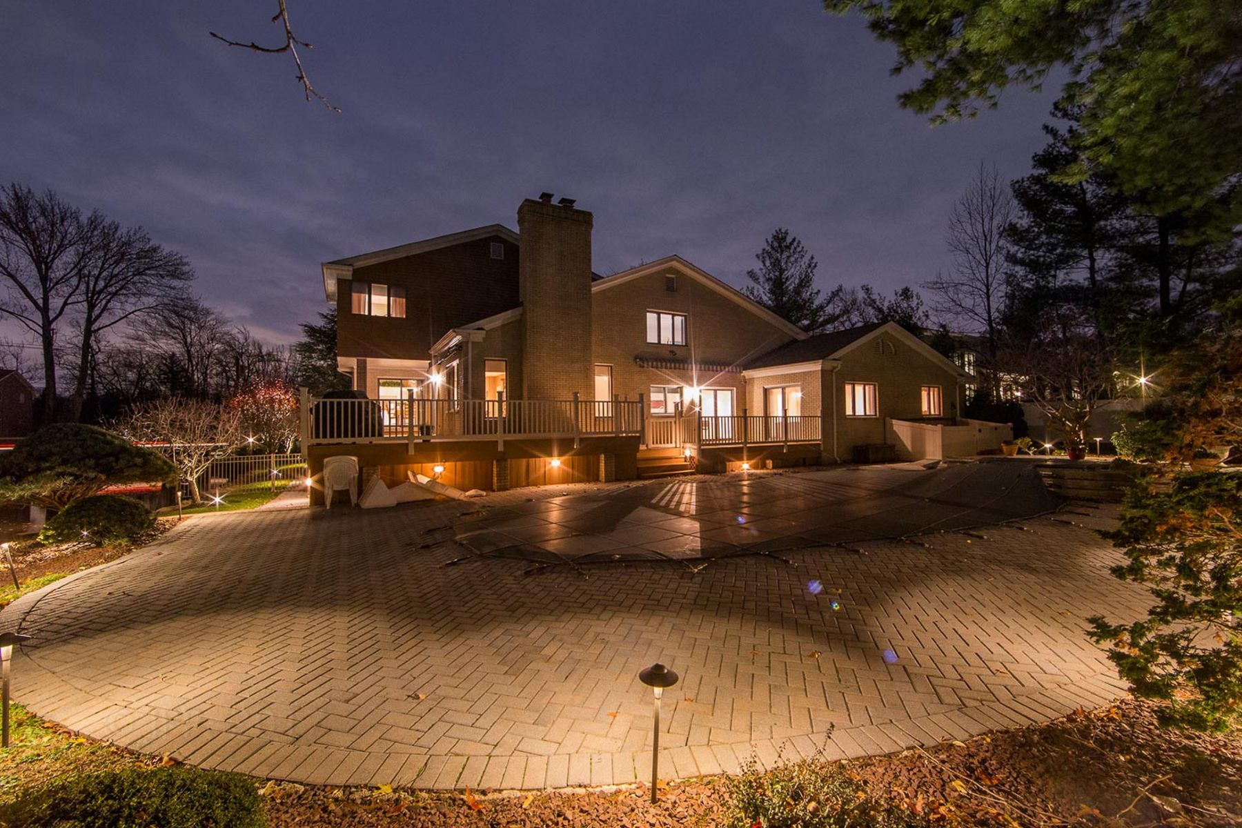 Single Family Home for Sale at Custom Built Colonial 185 Pershing Rd. Englewood Cliffs, New Jersey, 07632 United States