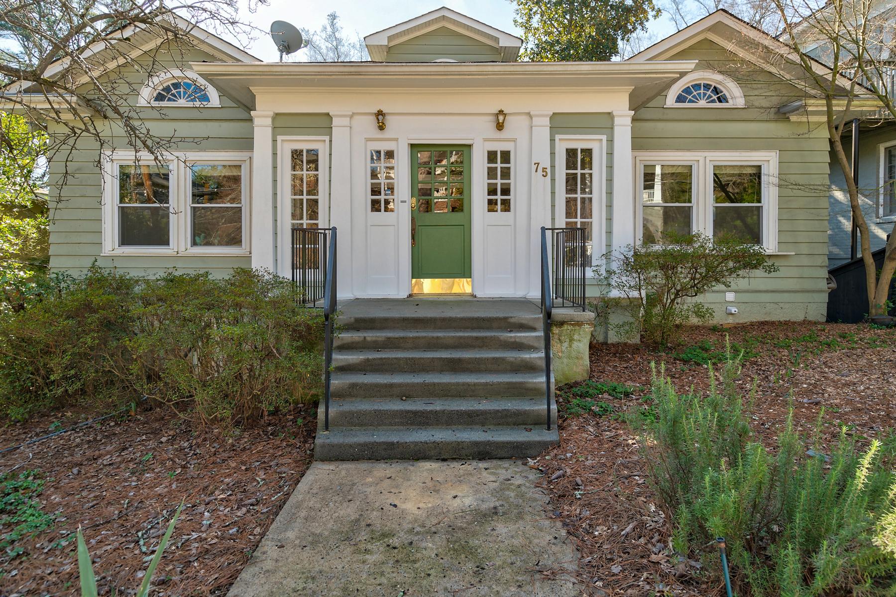 single family homes para Venda às Classic Craftsman In Ansley Park 75 Maddox Drive NE Atlanta, Geórgia 30309 Estados Unidos