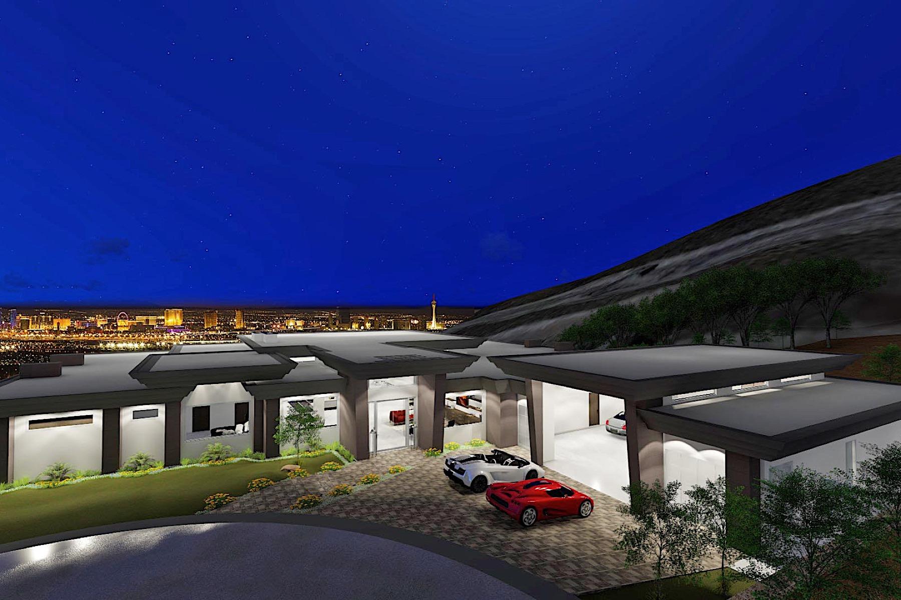 獨棟家庭住宅 為 出售 在 Rocket New Modern Single Story with Strip Views & 8 Car Garage 661 Falcon Cliff Court Henderson, 內華達州, 89012 美國