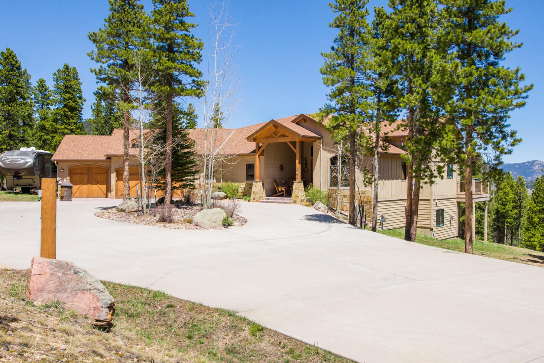 Maison unifamiliale pour l Vente à Breath taking mountain views 645 Old Squaw Pass Road Evergreen, Colorado, 80439 États-Unis