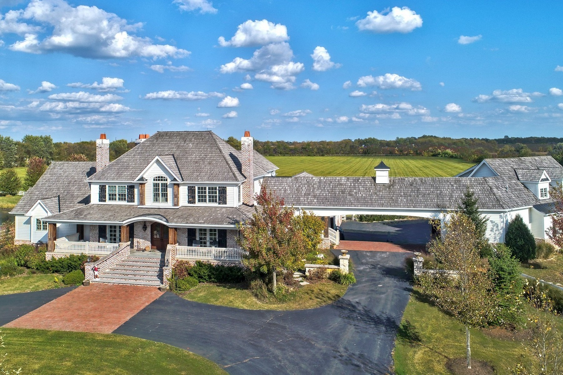 Single Family Homes for Active at Custom-Built Home on 58 Acres 9N655 Kendall Road Elgin, Illinois 60124 United States