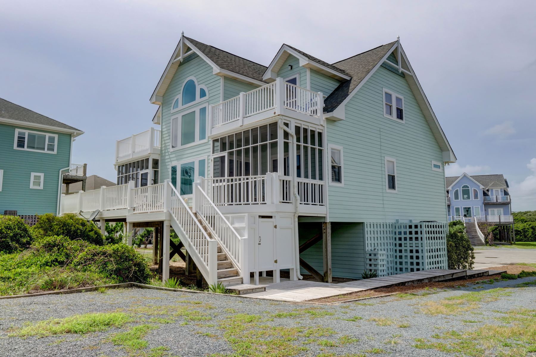 Single Family Home for Active at Gorgeous Ocean Views from Updated Custom Home 120 N Permuda Wynd N Topsail Beach, North Carolina 28460 United States