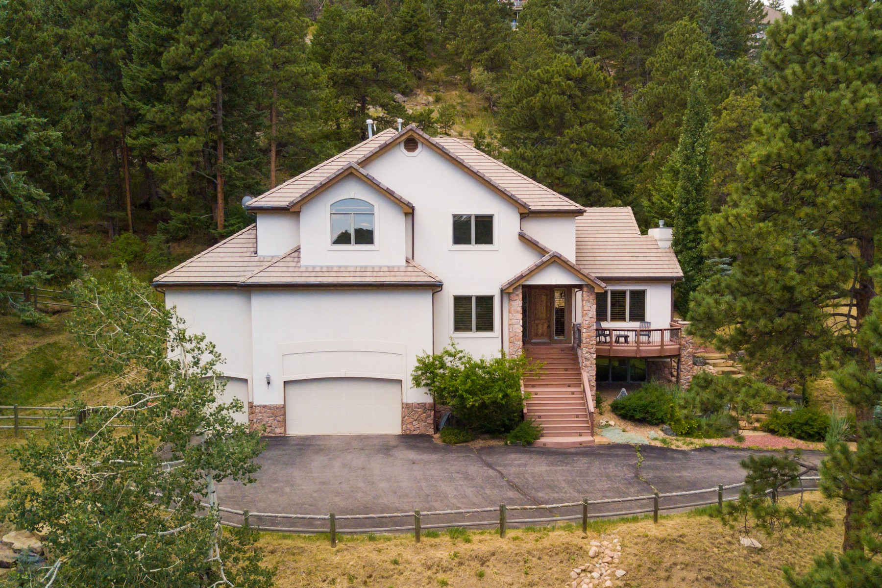 Single Family Home for Active at Relaxed Yet Sophisticated 24999 North Mountain Park Drive Evergreen, Colorado 80439 United States