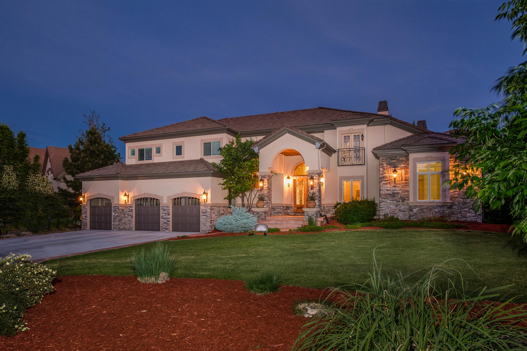Single Family Home for Active at Spectacular custom home in highly sought after Amber Ridge sure to impress 5780 Amber Ridge Pl Castle Pines, Colorado 80108 United States