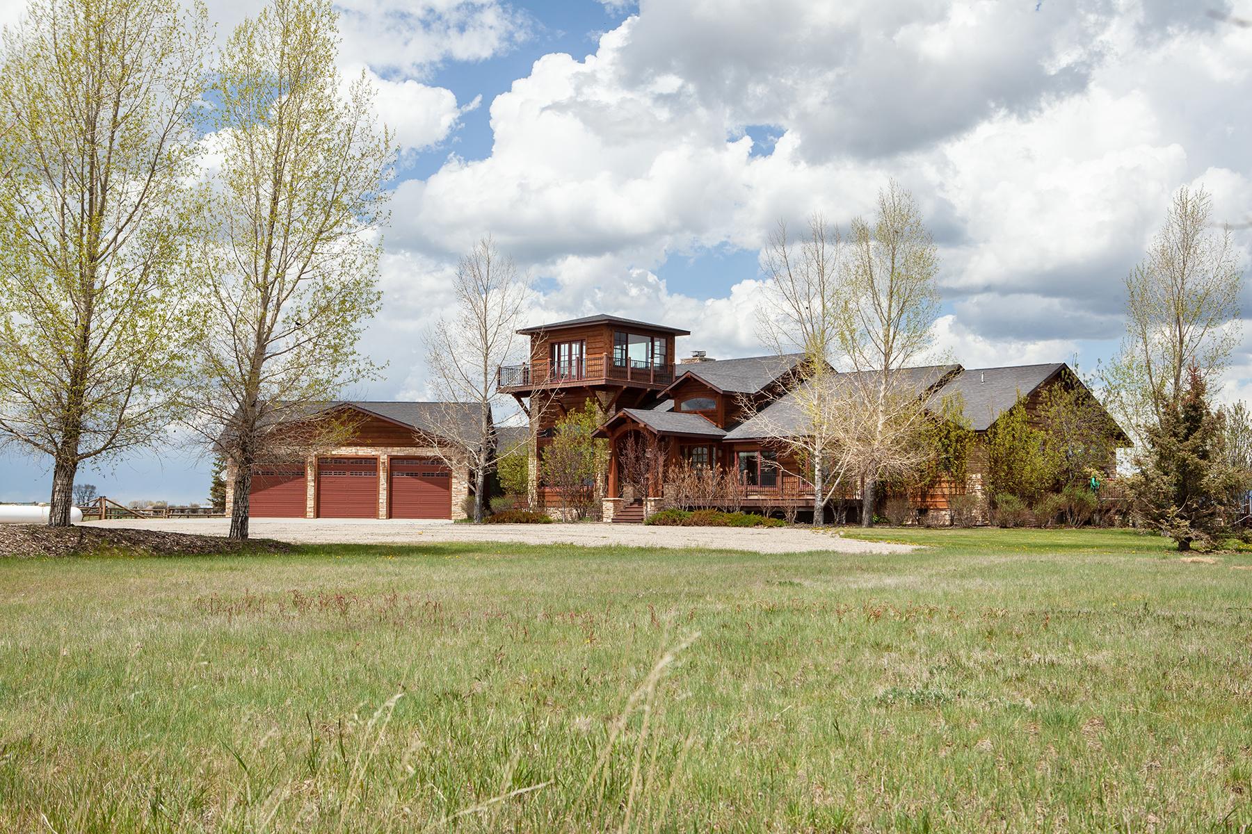 Single Family Homes por un Venta en Equestrian Acreage with Wind River Views 83 GRABLE LN., Boulder, Wyoming 82923 Estados Unidos